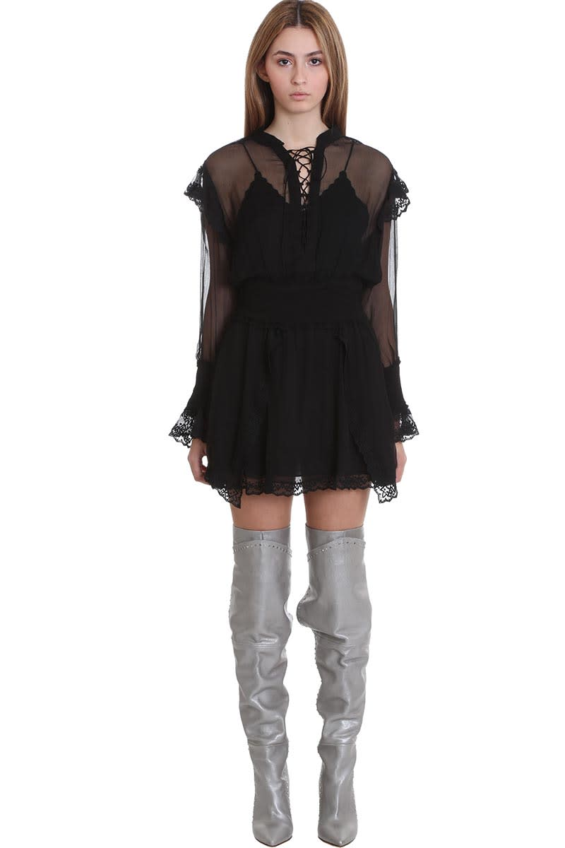 IRO Lendos Dress In Black Silk