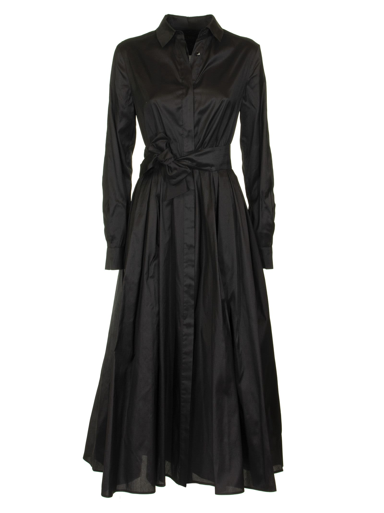 Max Mara Edwige Silk Shantung Dress