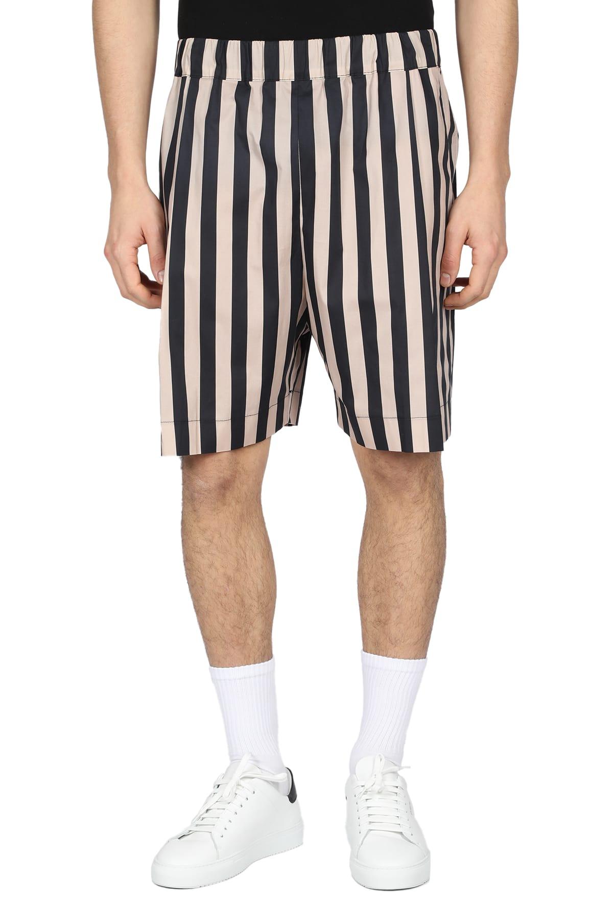 Laneus Shorts STRIPED BERMUDA SHORT
