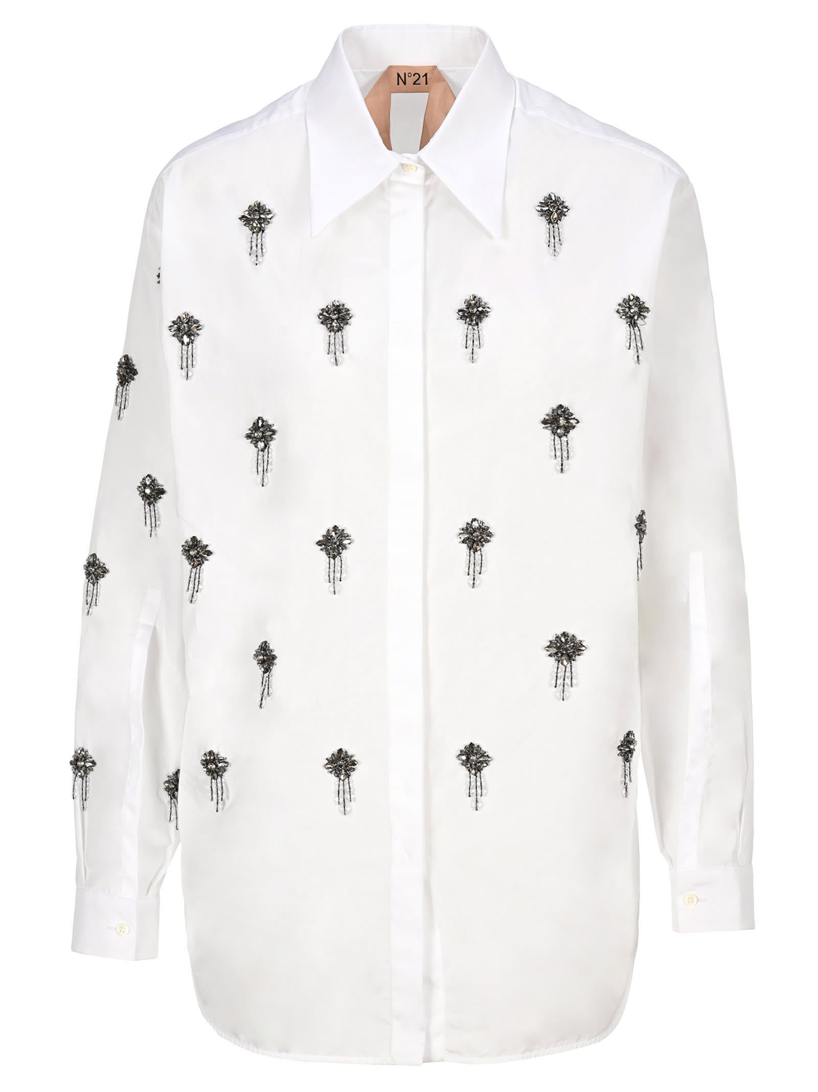 N21 Crystal-embellished Shirt