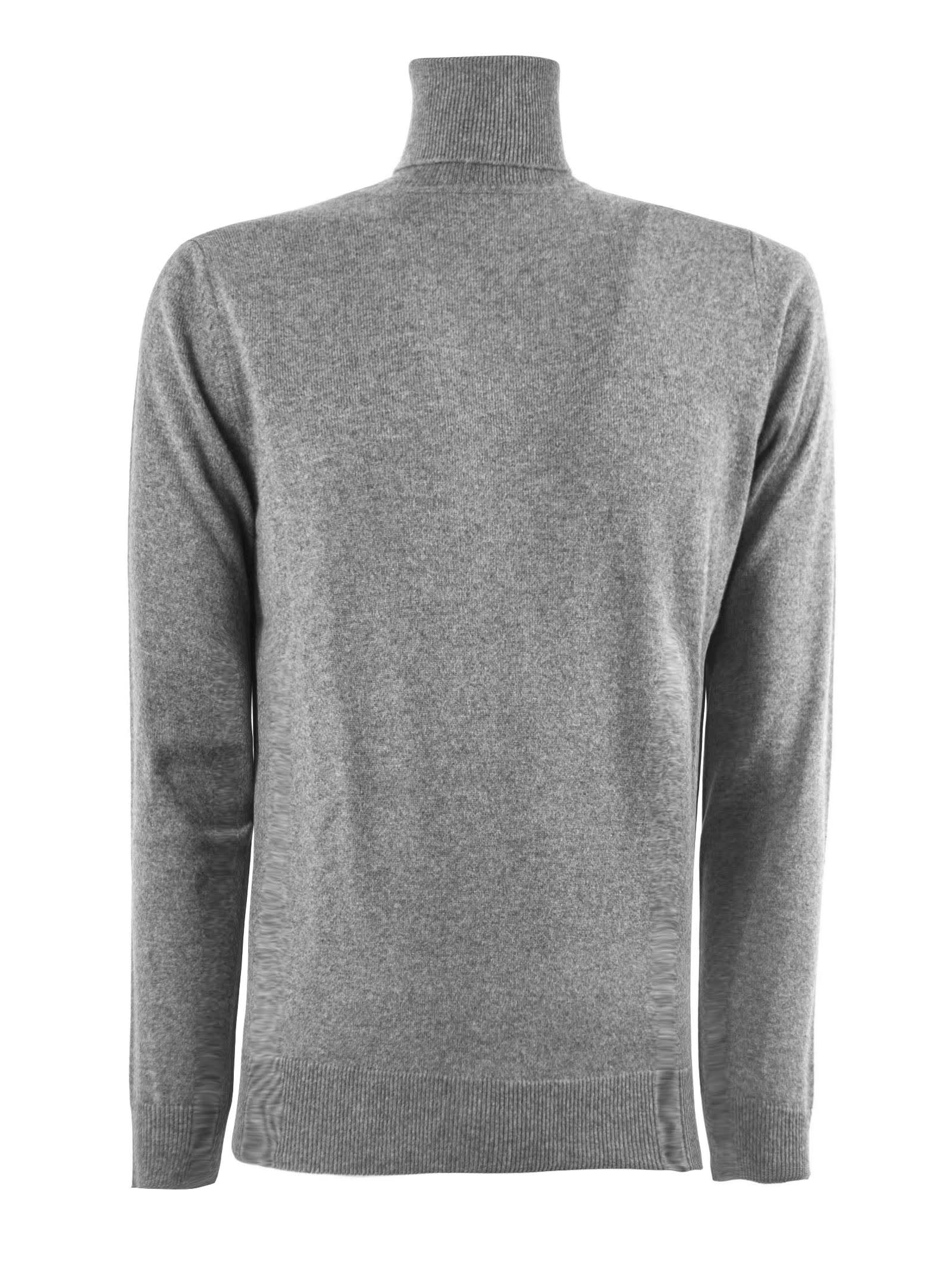 Kangra Grey Merino Wool Sweater