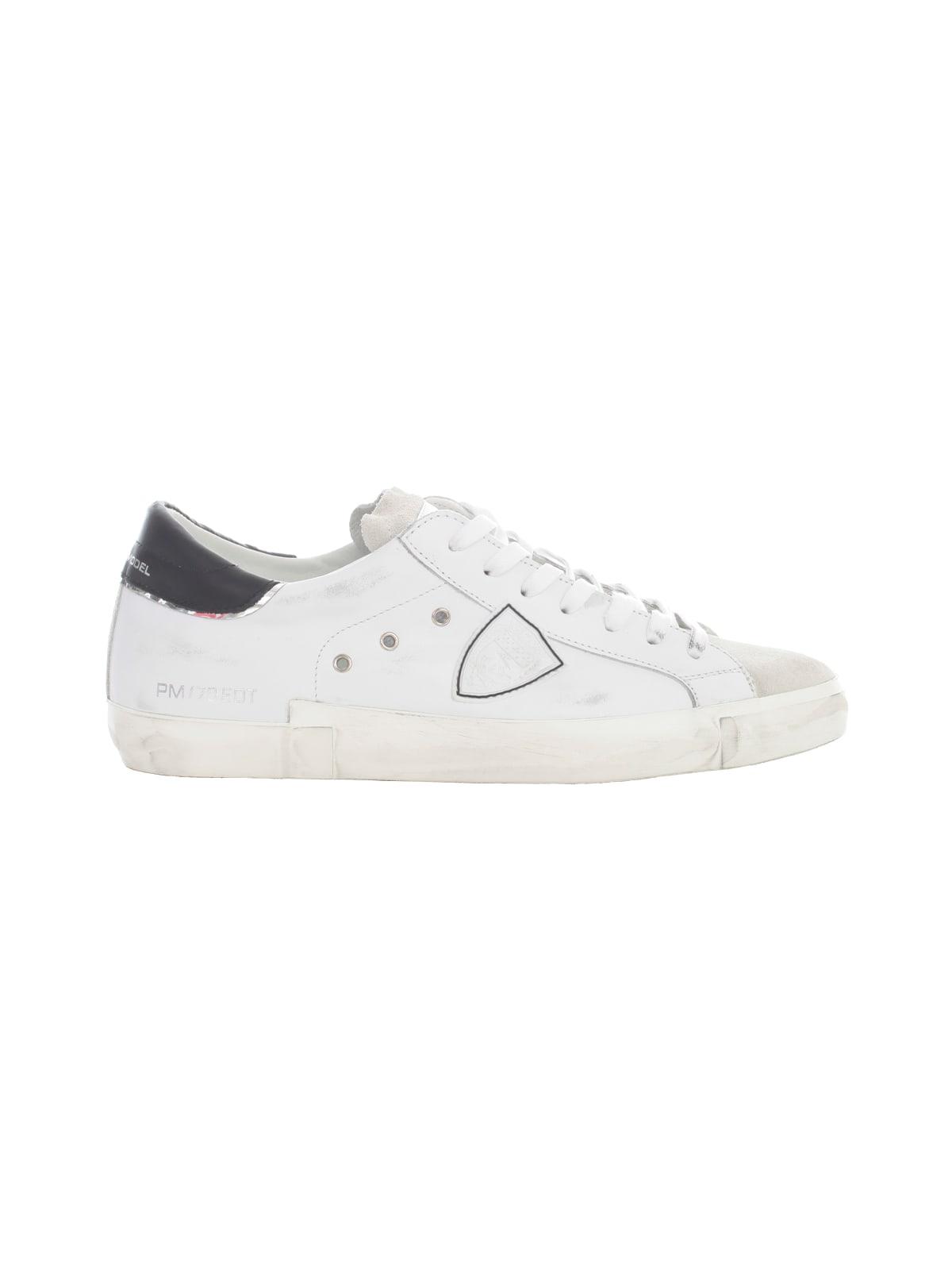 Philippe Model Low Sneakers Prsx W/ Black Heel