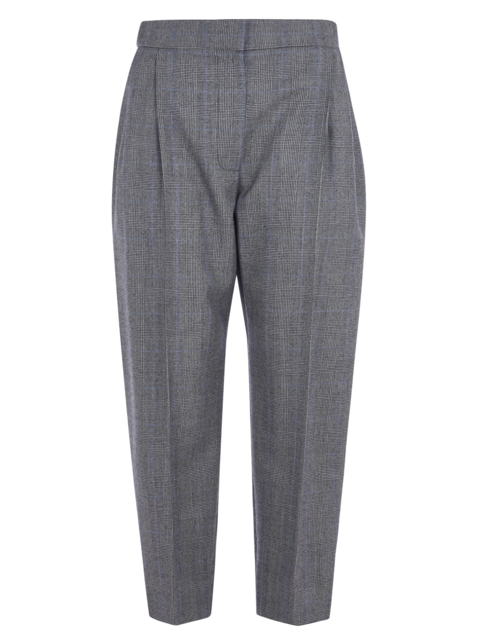 Alexander McQueen Cropped Check Trousers