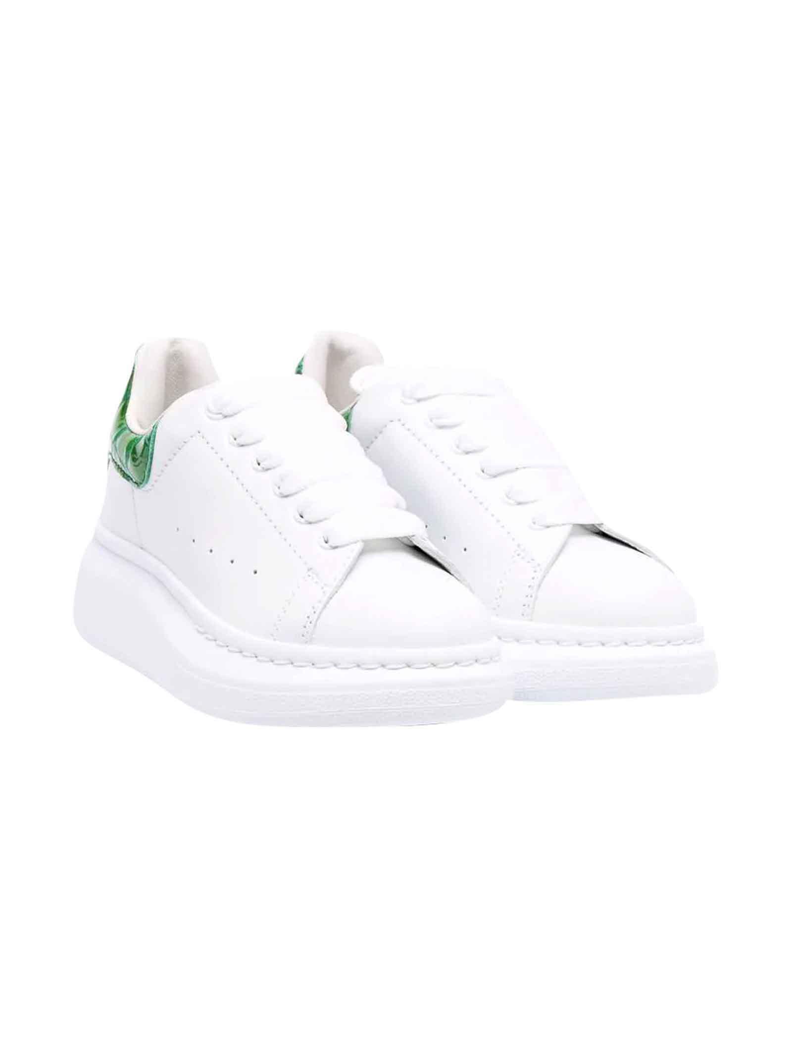 Alexander McQueen Kids Unisex White Sneakers