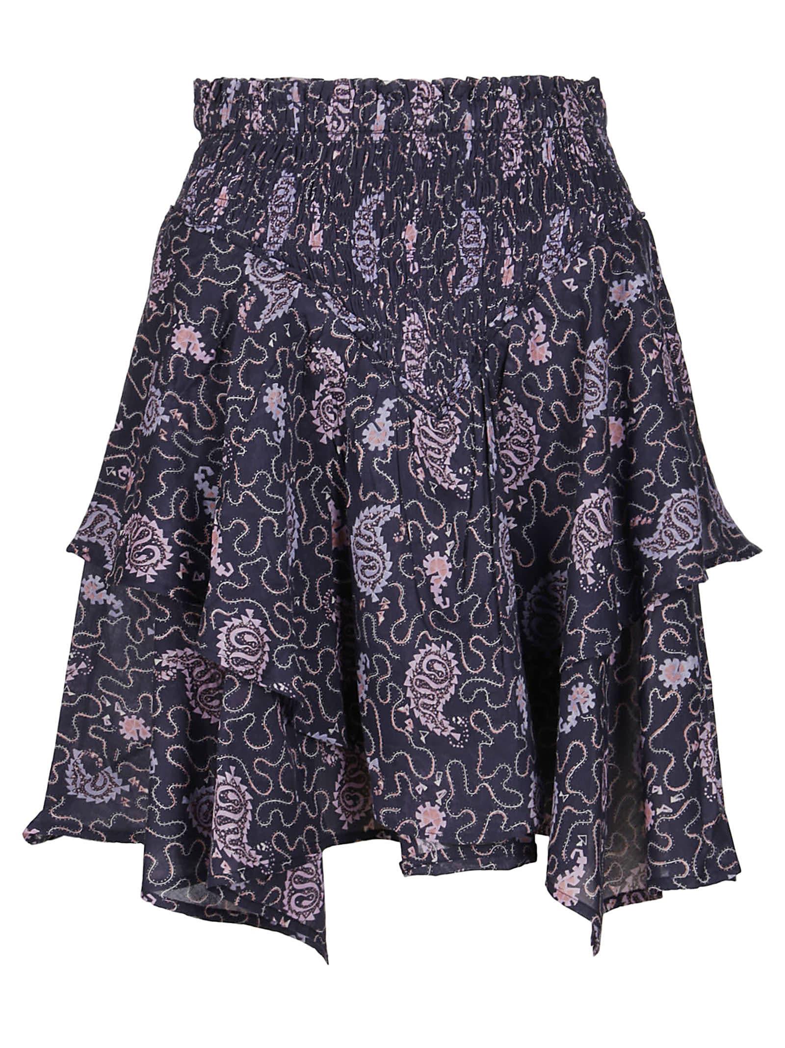 Isabel Marant Étoile Skirts PURPLE COTTON SKIRT