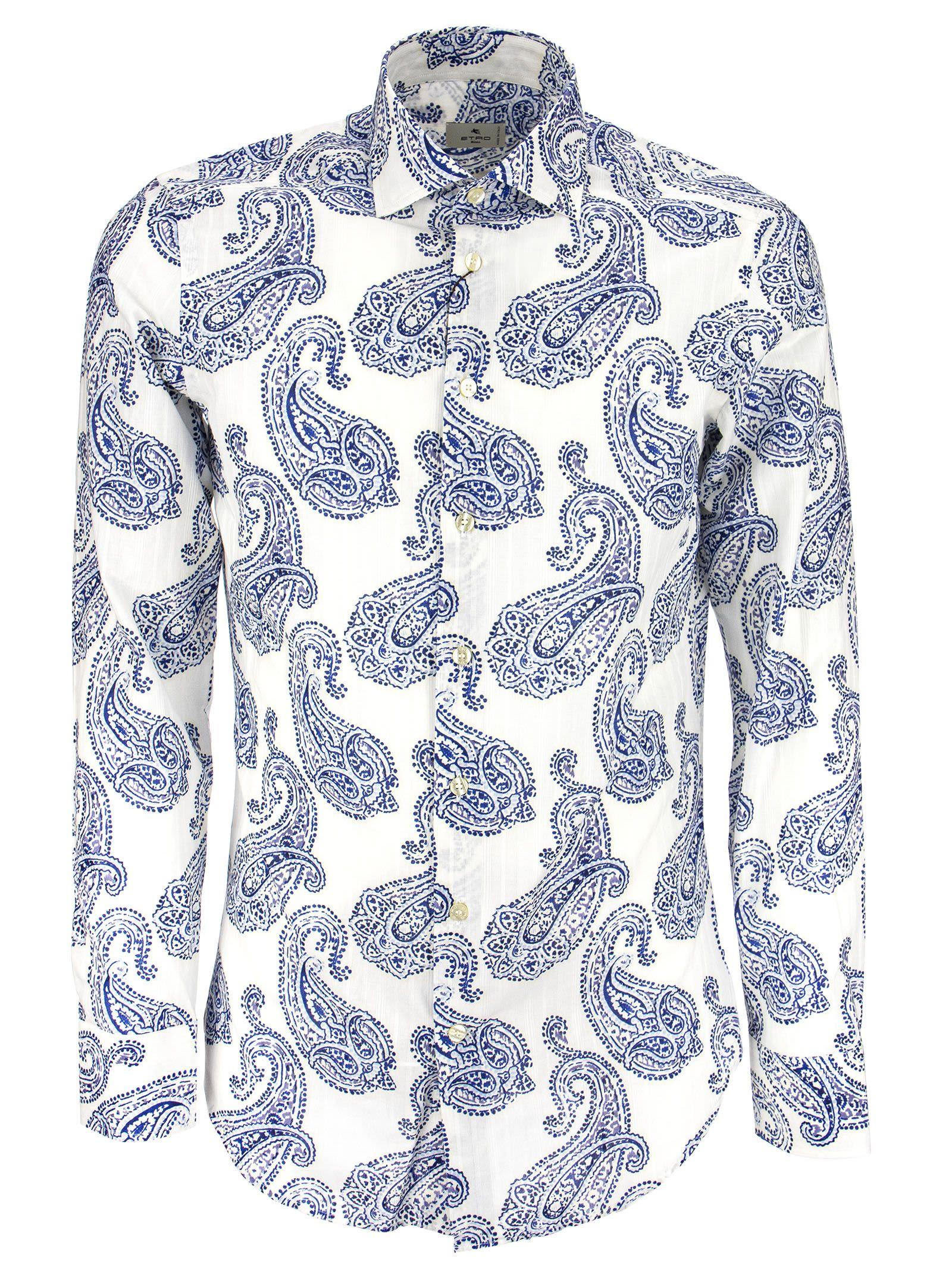 Etro Cottons JACQUARD SHIRT WITH PAISLEY MOTIFS