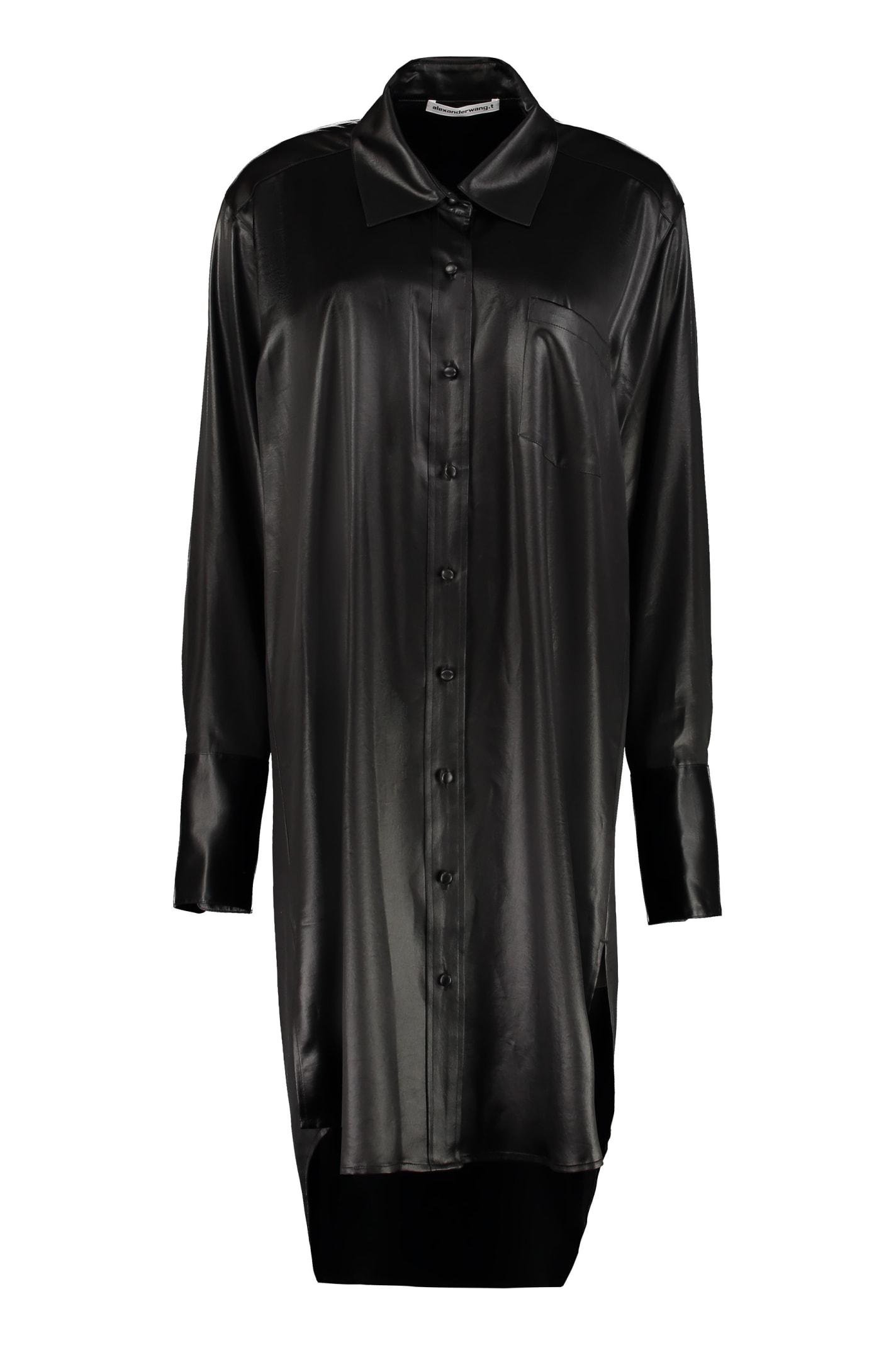 Buy Alexander Wang Oversize Shirtdress online, shop Alexander Wang with free shipping