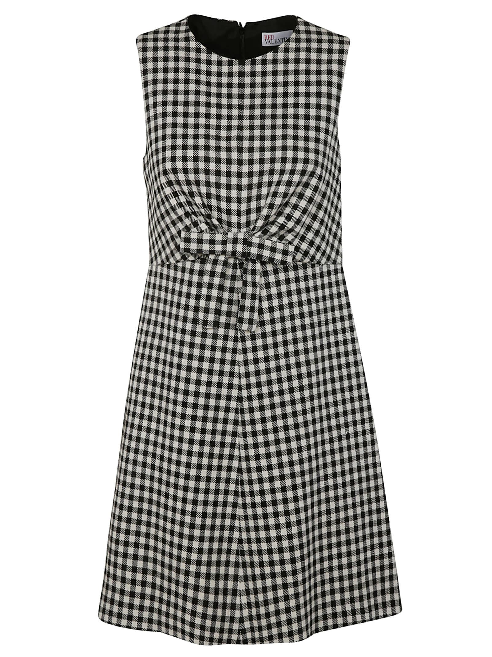 Sleeveless Checked Dress from RED ValentinoComposition: 38% Cotton, 34% Acrylic, 17% Polyester, 11% Wool