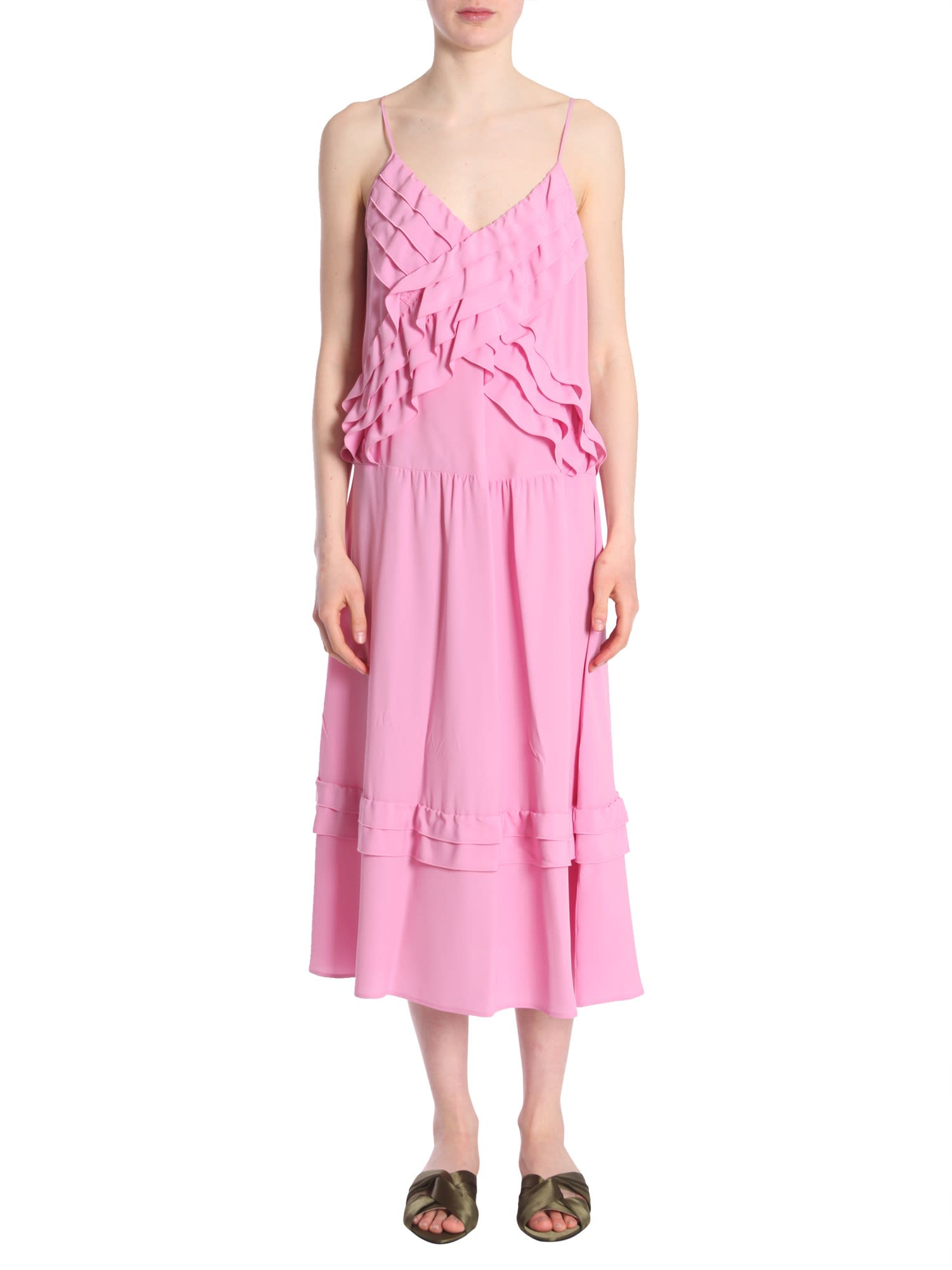 Buy N.21 Ruffled Dress online, shop N.21 with free shipping
