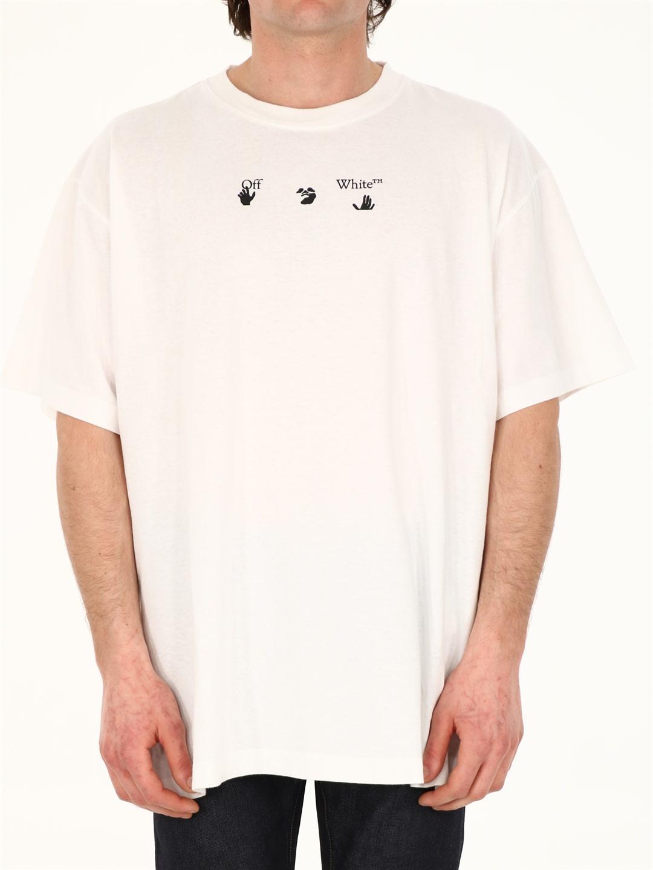 Off-White Cottons WHITE LOGO T-SHIRT