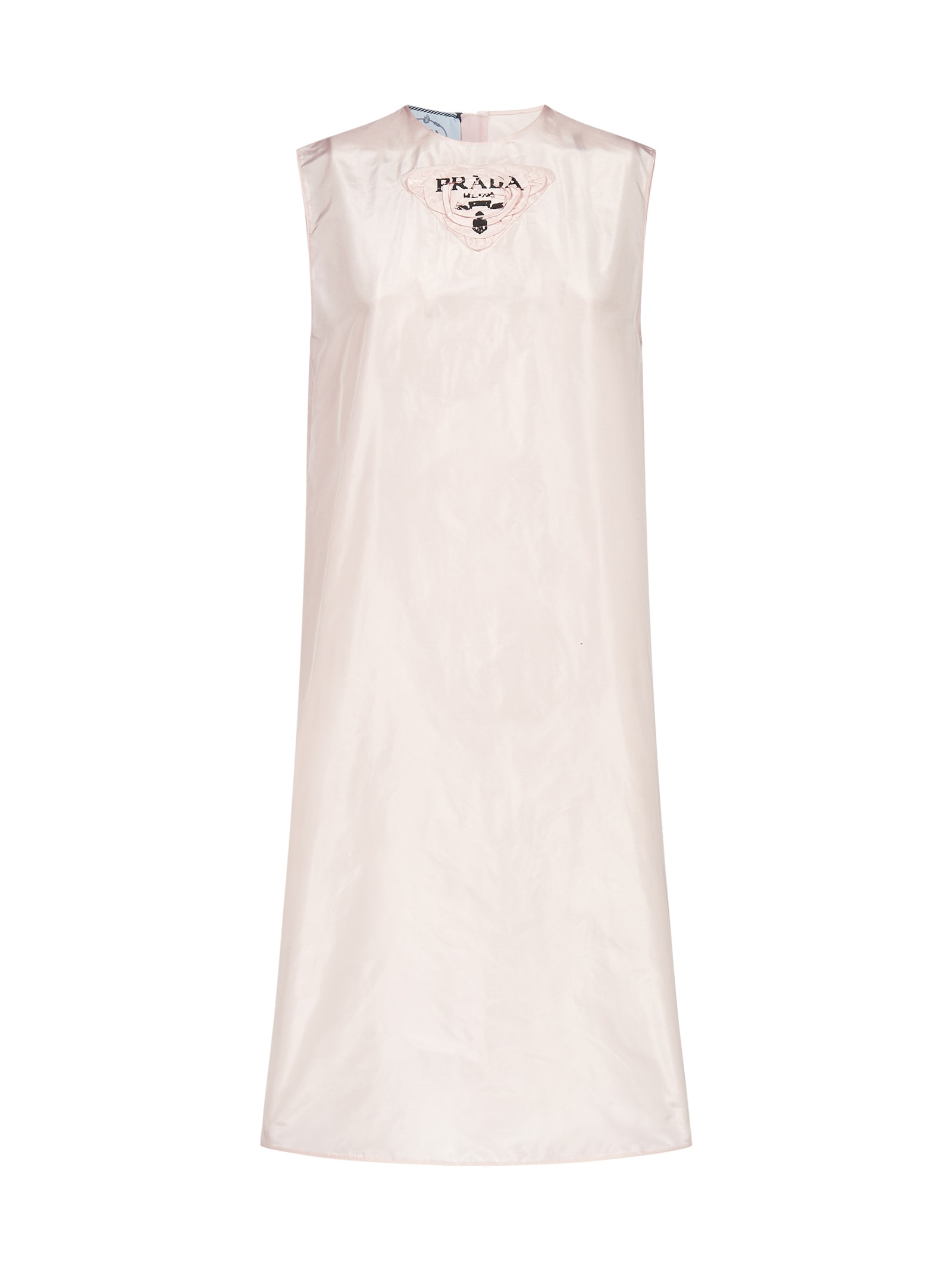Prada Logo Silk Dress