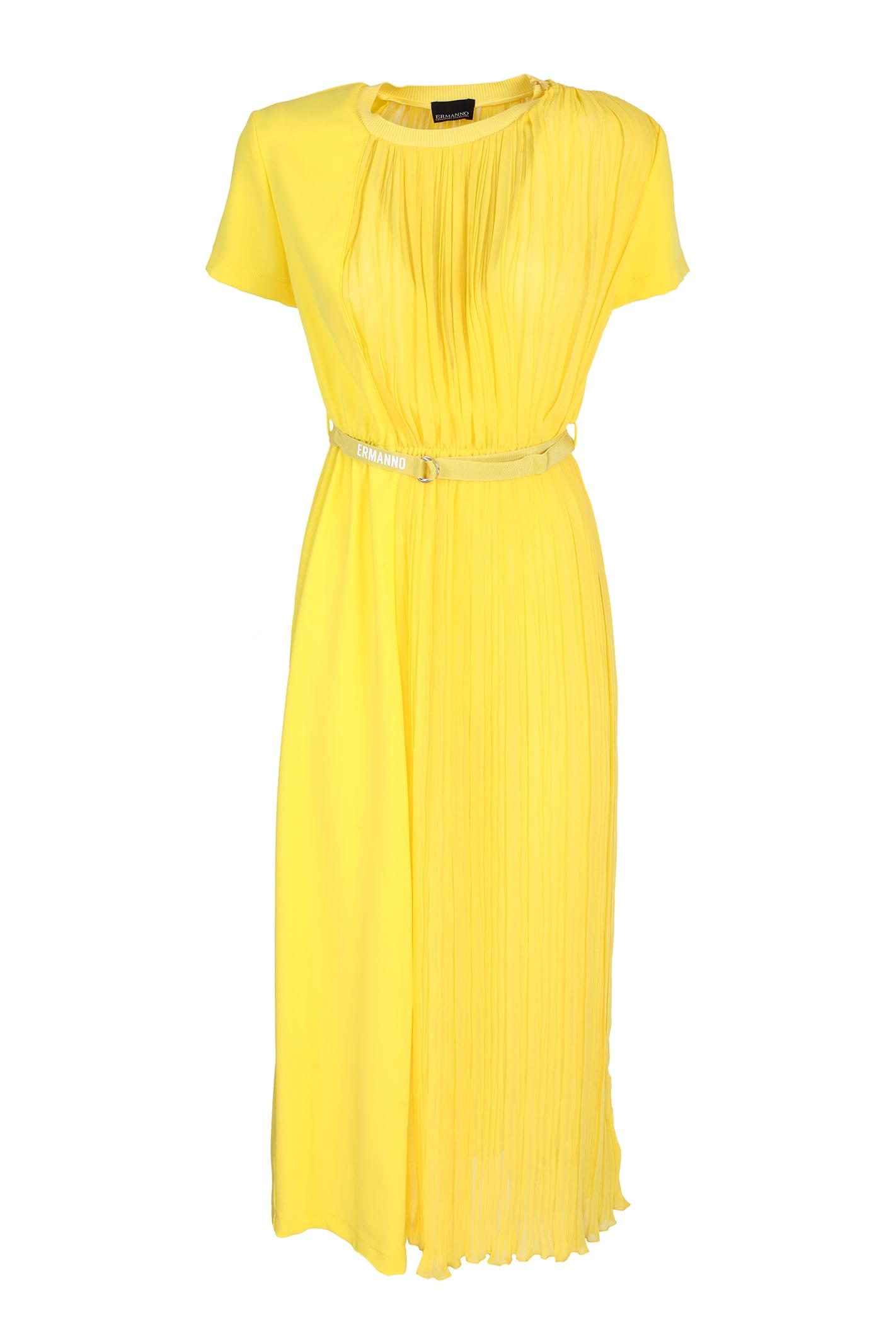 Buy Ermanno Scervino long cady dress online, shop Ermanno Ermanno Scervino with free shipping