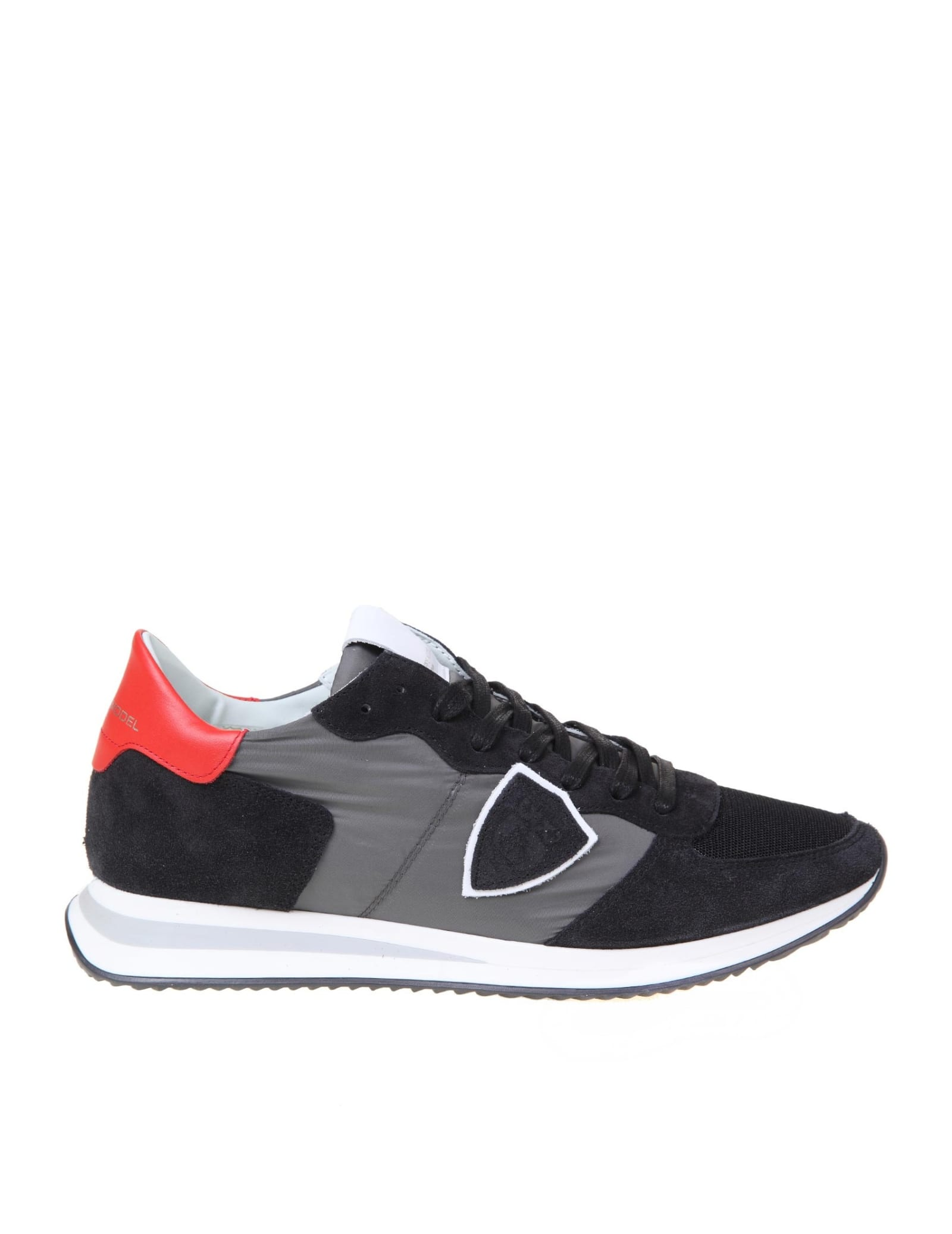 Philippe Model Trpx Suede And Nylon Sneakers