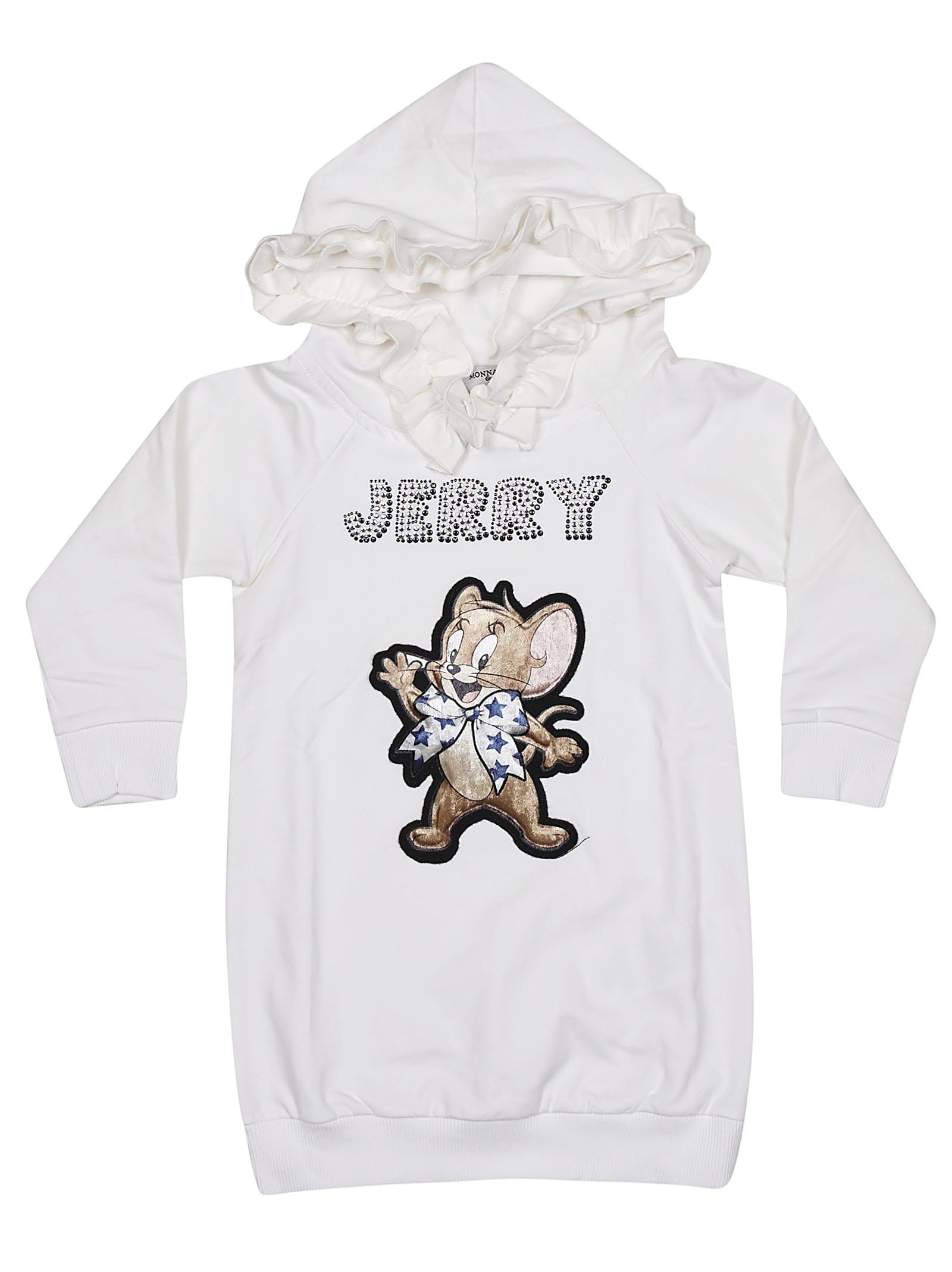 Buy Monnalisa Jerry Hoodie Dress online, shop Monnalisa with free shipping