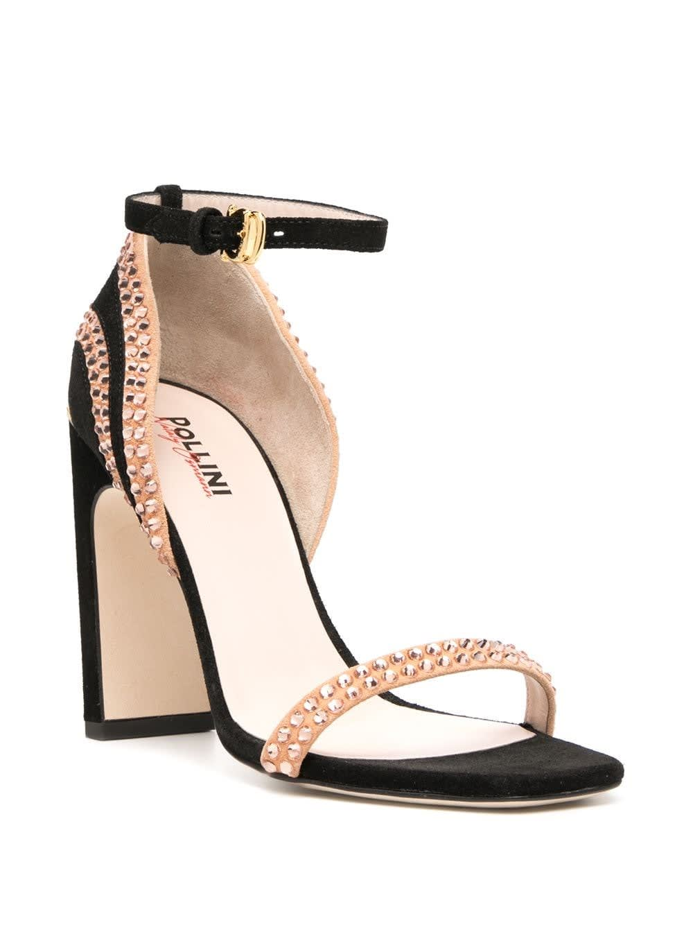 Pollini SANDALS WITH STRASS DETAIL