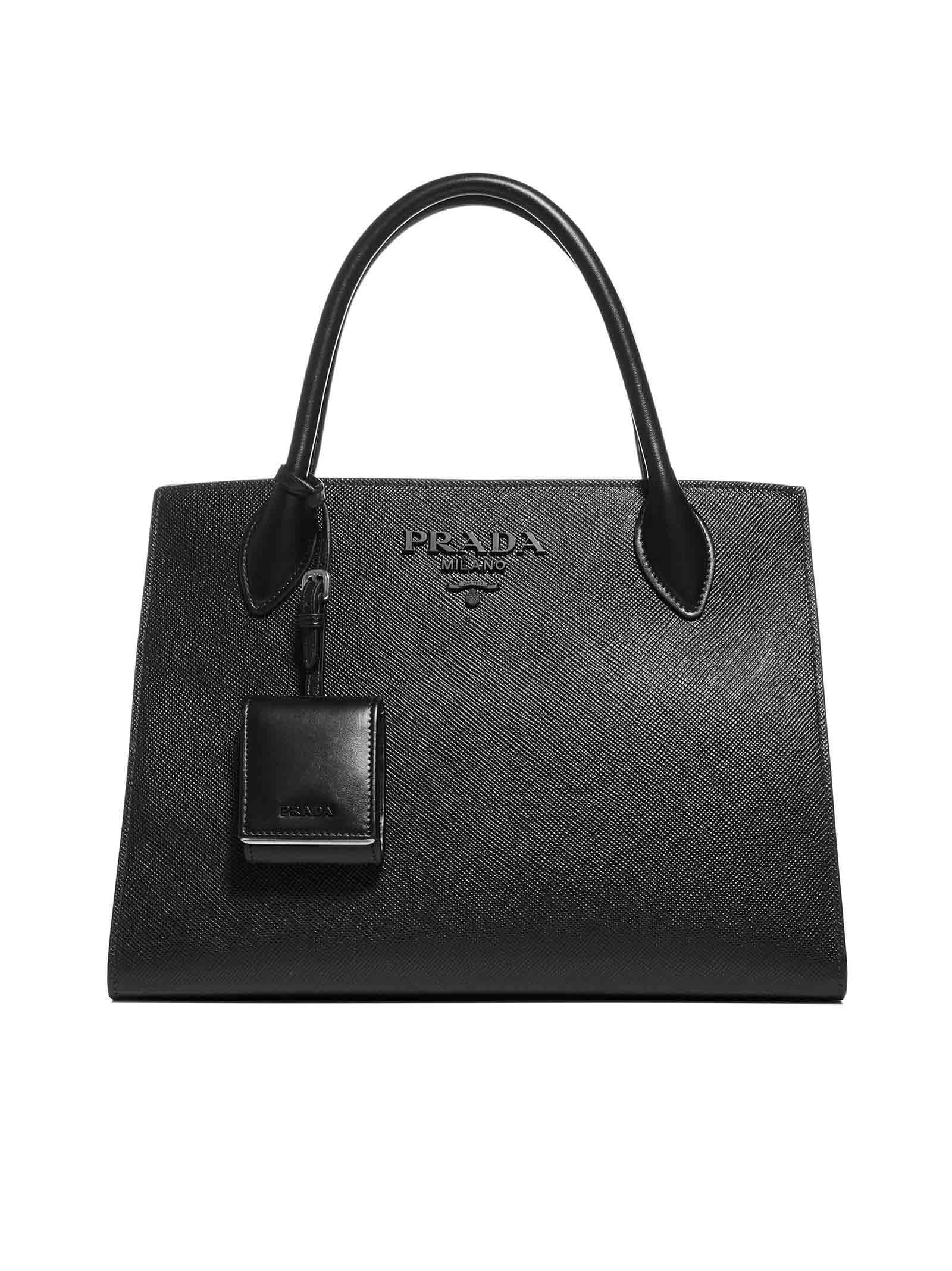 Prada monochrome Midi Handbag