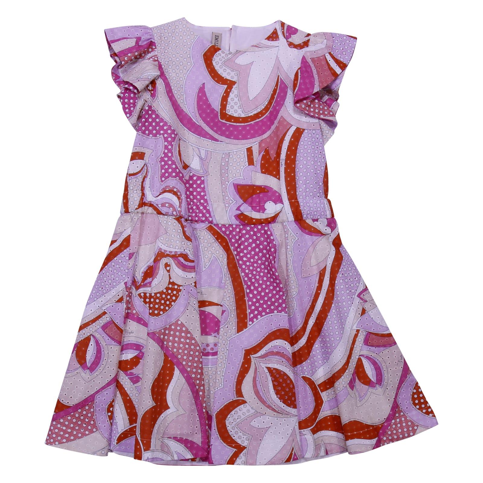 Emilio Pucci Printed Eyelet Cotton Dress