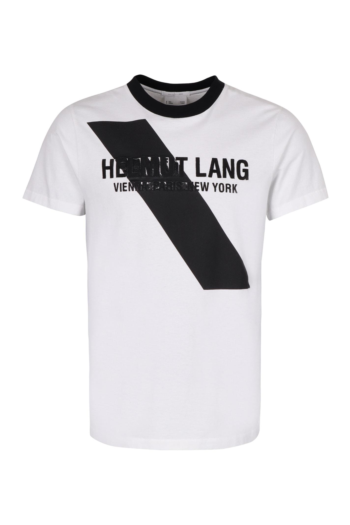 Helmut Lang Logo Print Cotton T-shirt