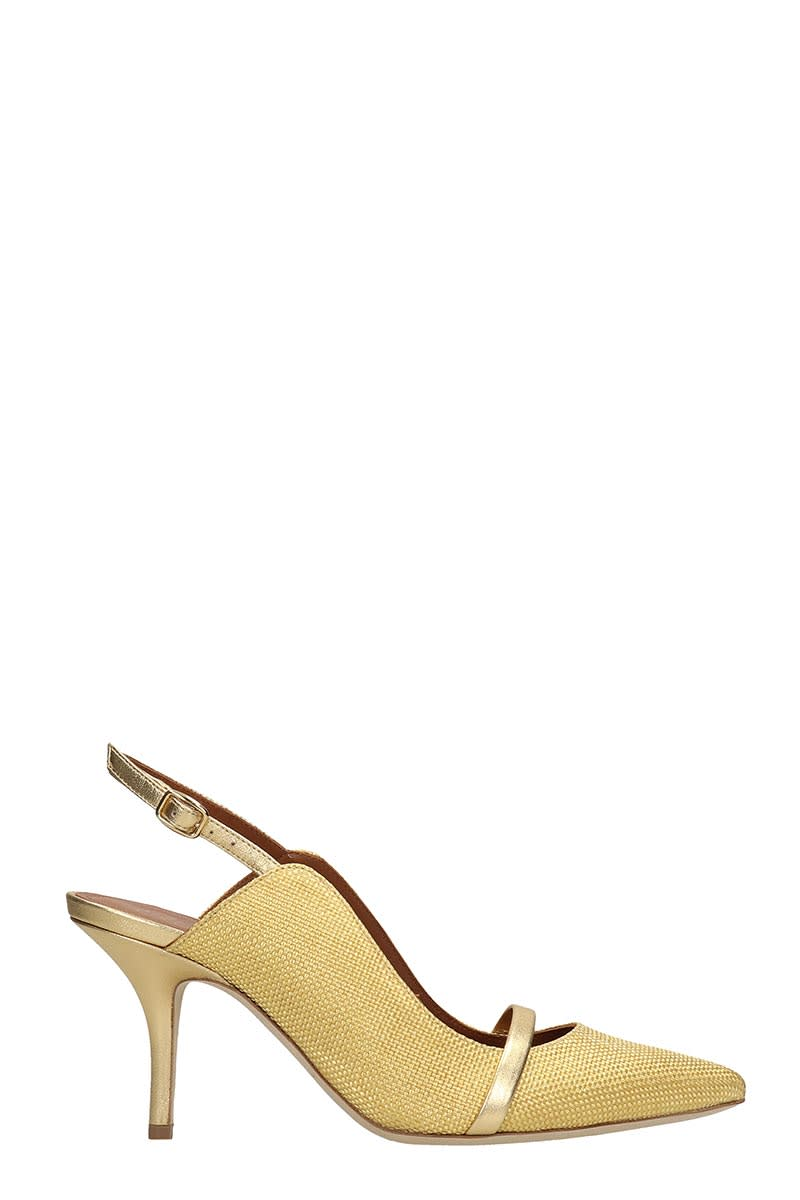 Malone Souliers Marion Pumps In Gold Fabric