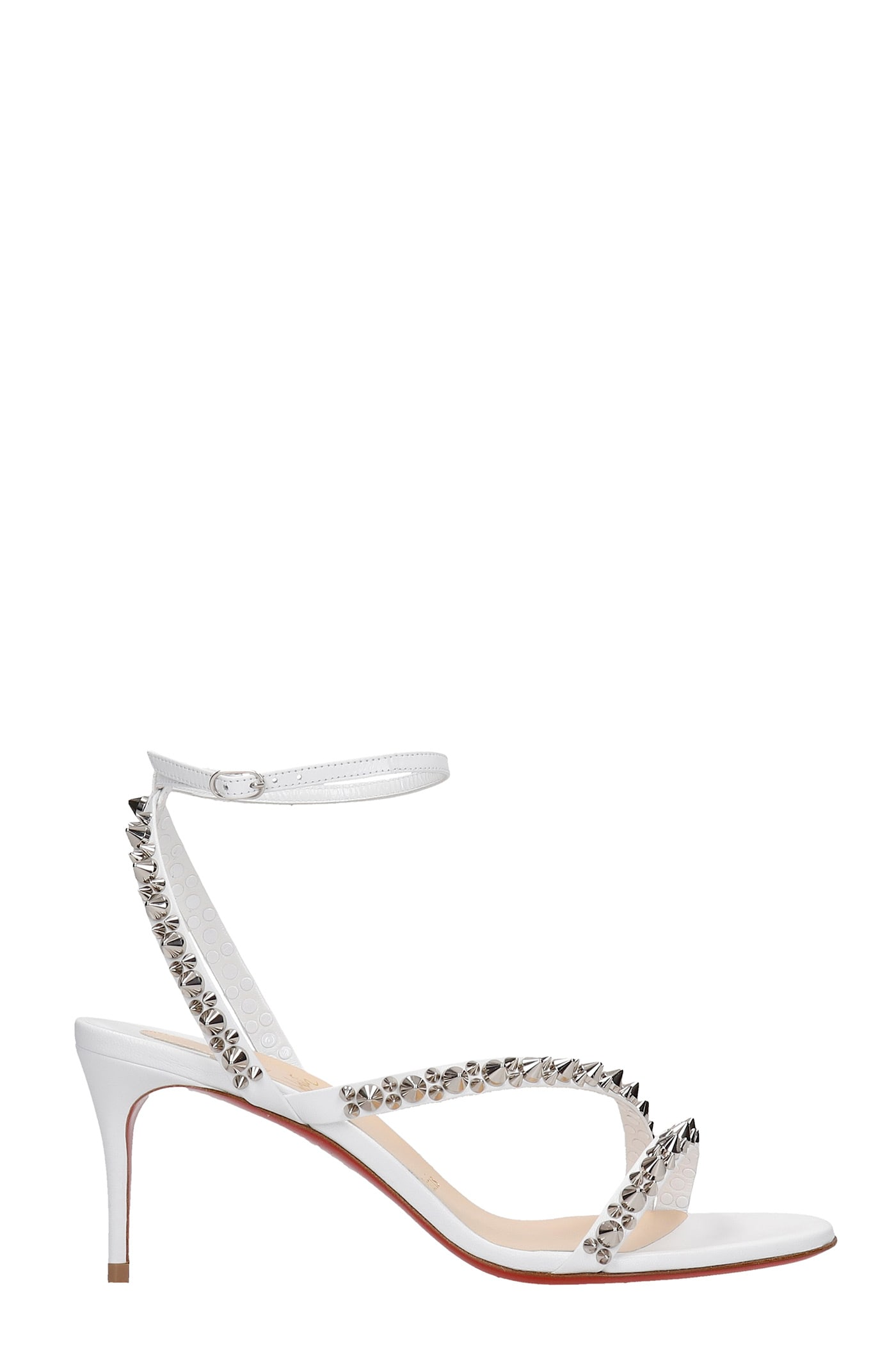 Christian Louboutin MAFALDINA SANDALS IN WHITE LEATHER
