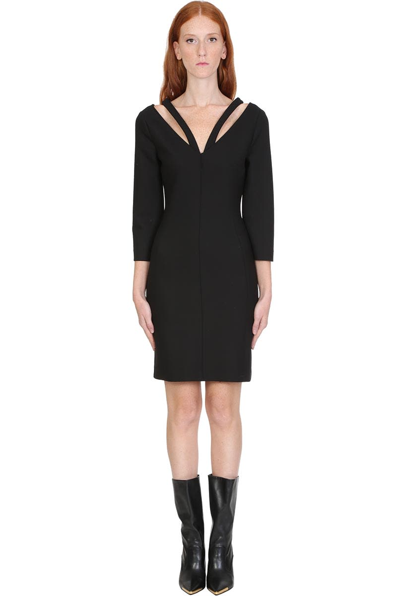 Buy Stella McCartney Dress In Black Wool online, shop Stella McCartney with free shipping