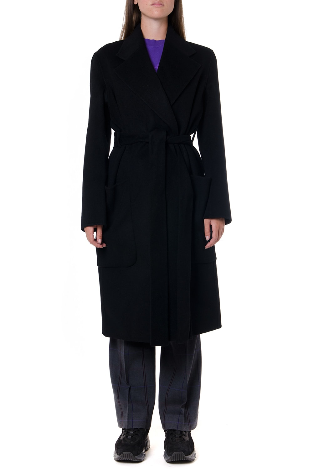 Acne Studios Black Wool & Cashmere Coat