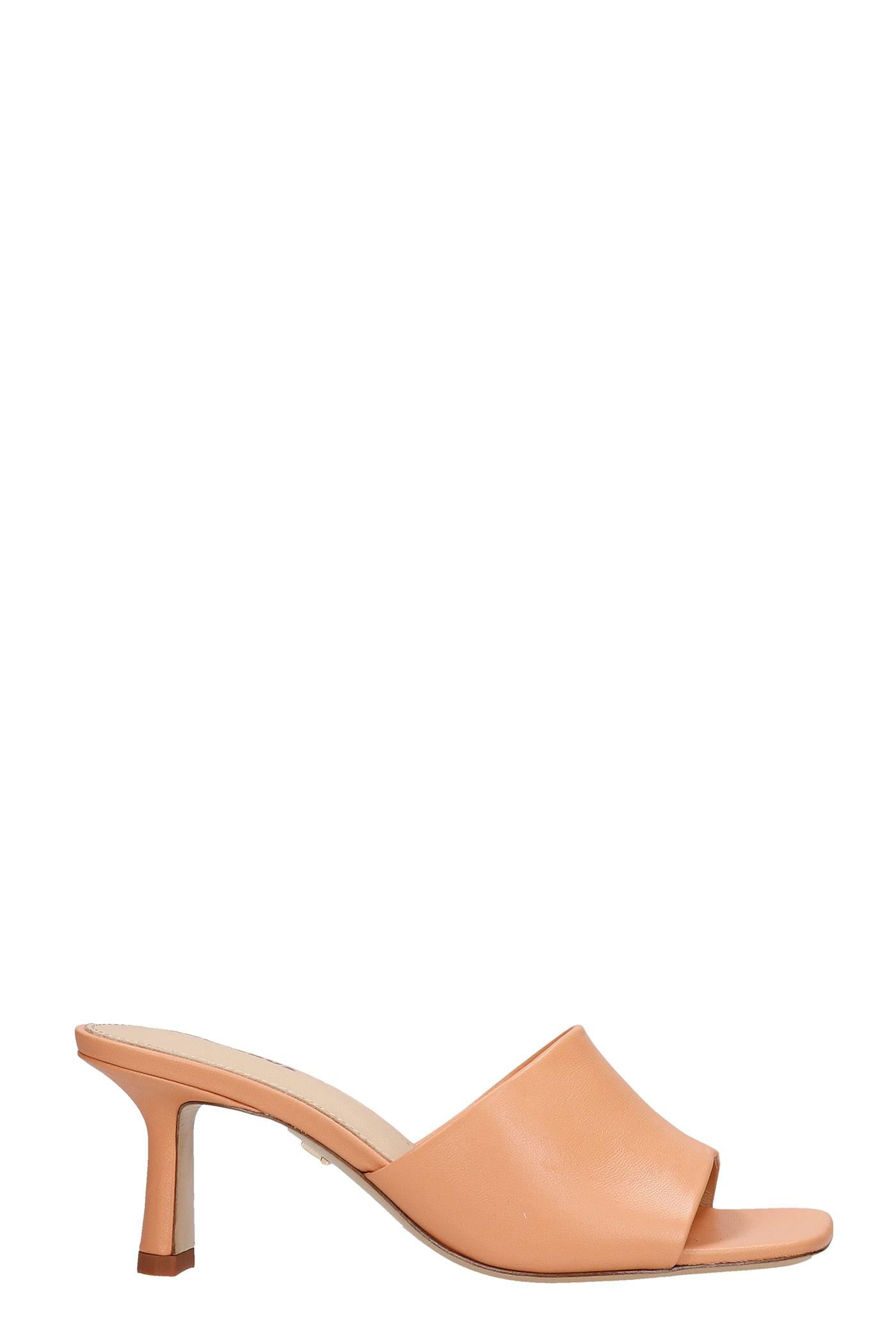 Sandals In Orange Leather