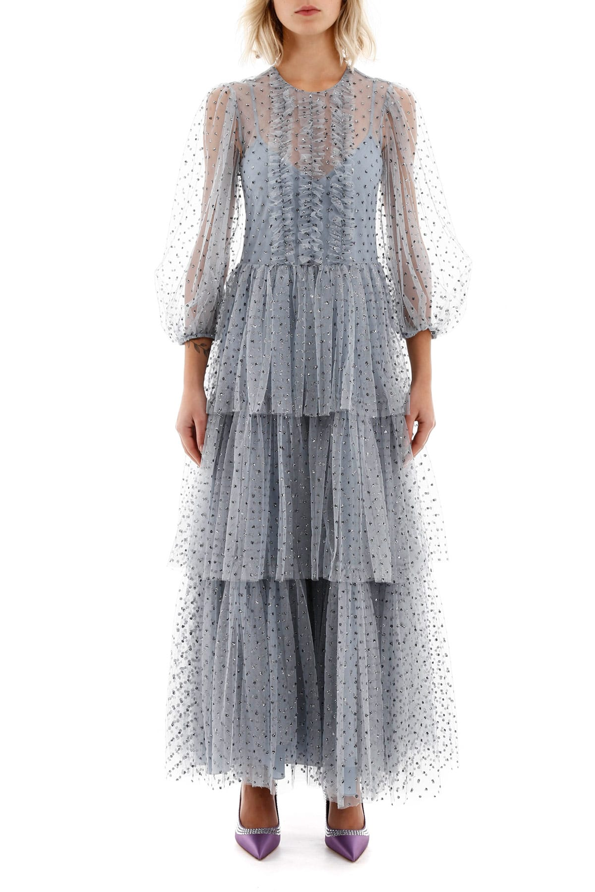 RED Valentino Tulle Dress With Glitter Polka Dots