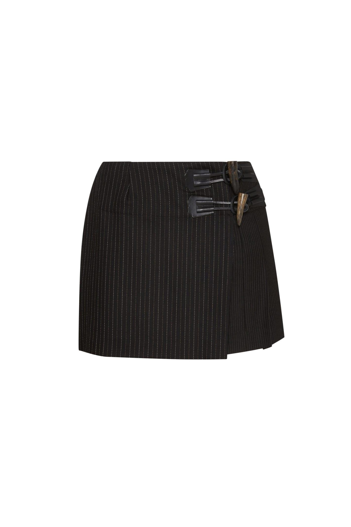 Dundee Skirt In Black Gessato