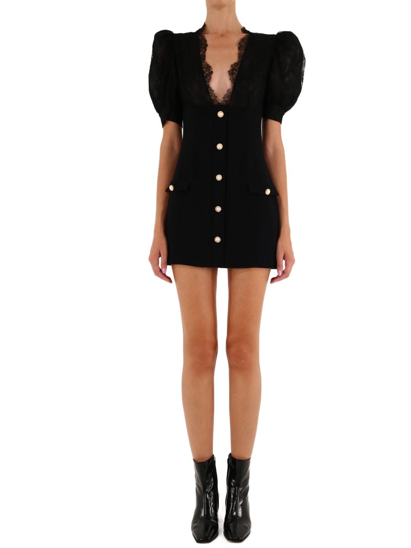 Alessandra Rich BLACK MINI DRESS