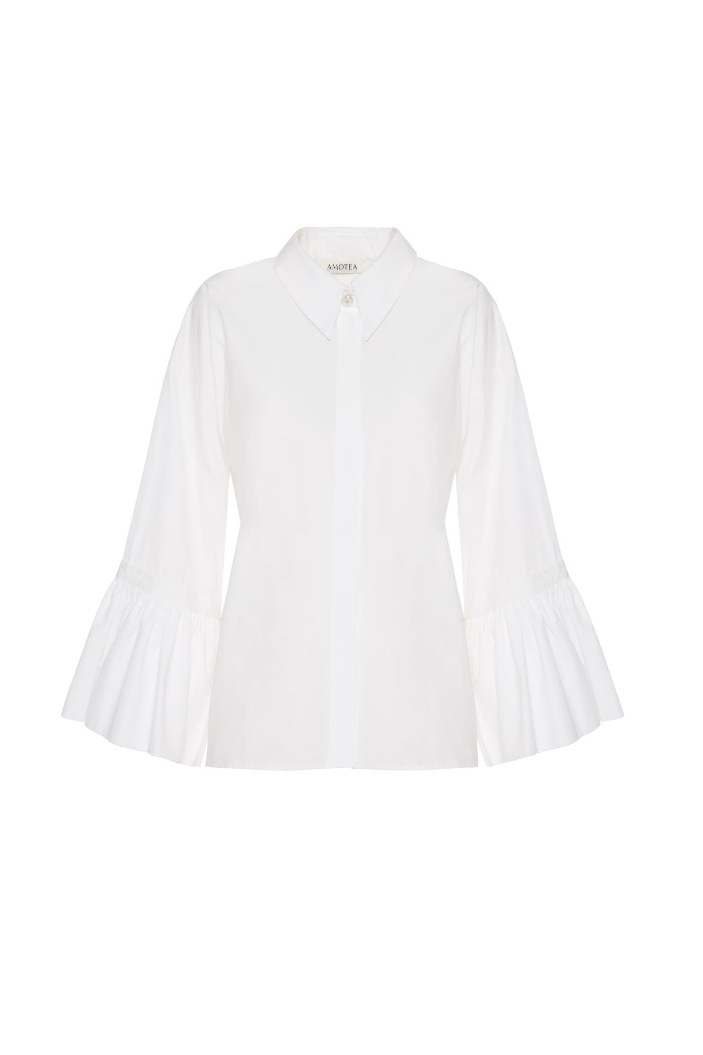 Claudia Shirt In White Poplin