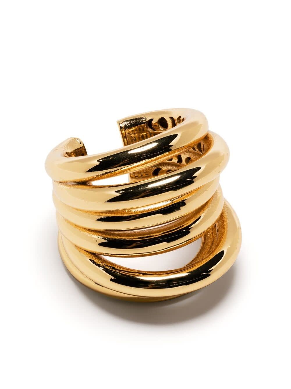 Federica Tosi ALE GOLD-COLORED BAND RING
