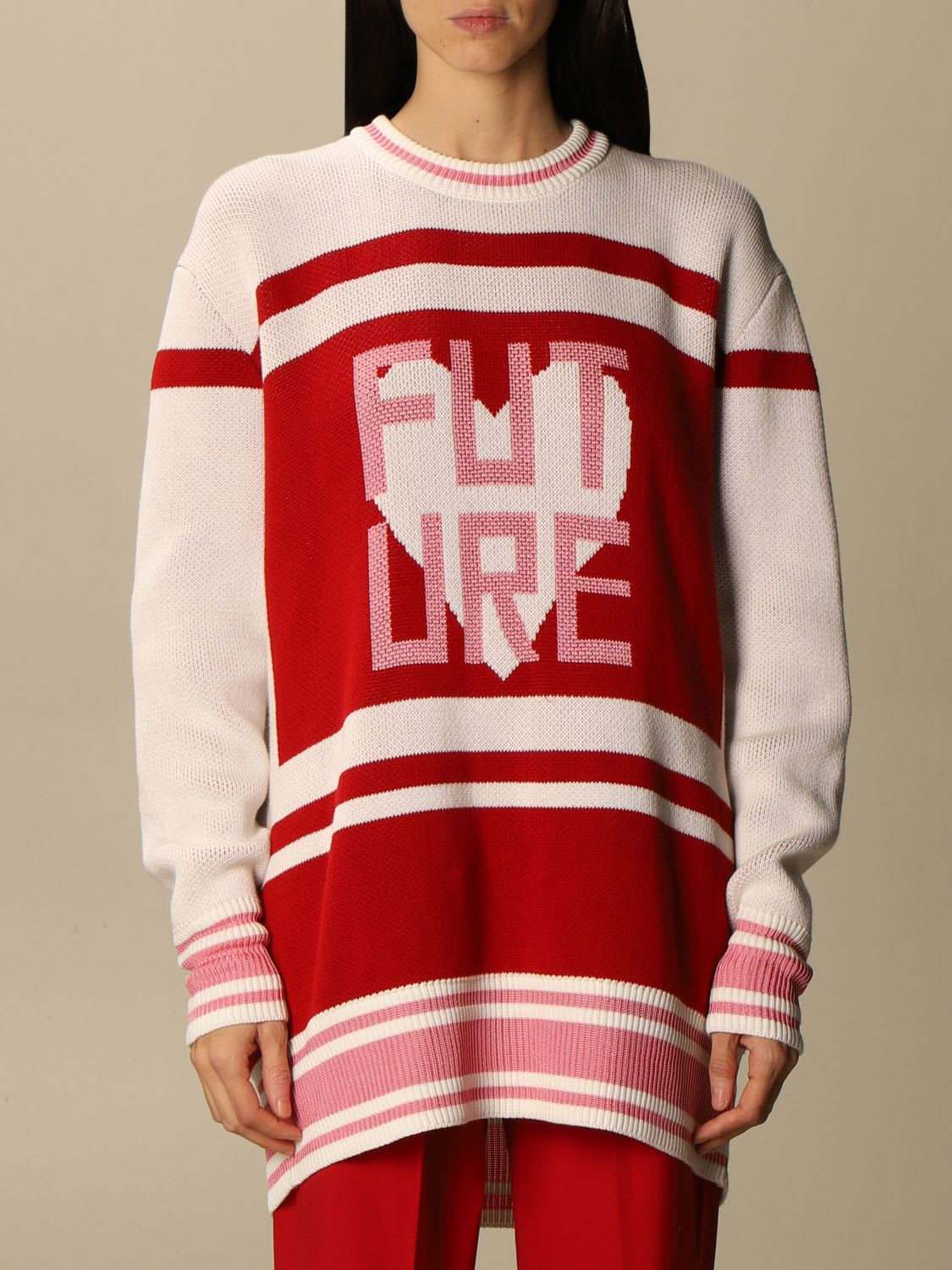 Golden Goose Sweater Golden Goose Pullover In Cotton Blend With Jacquard Writing