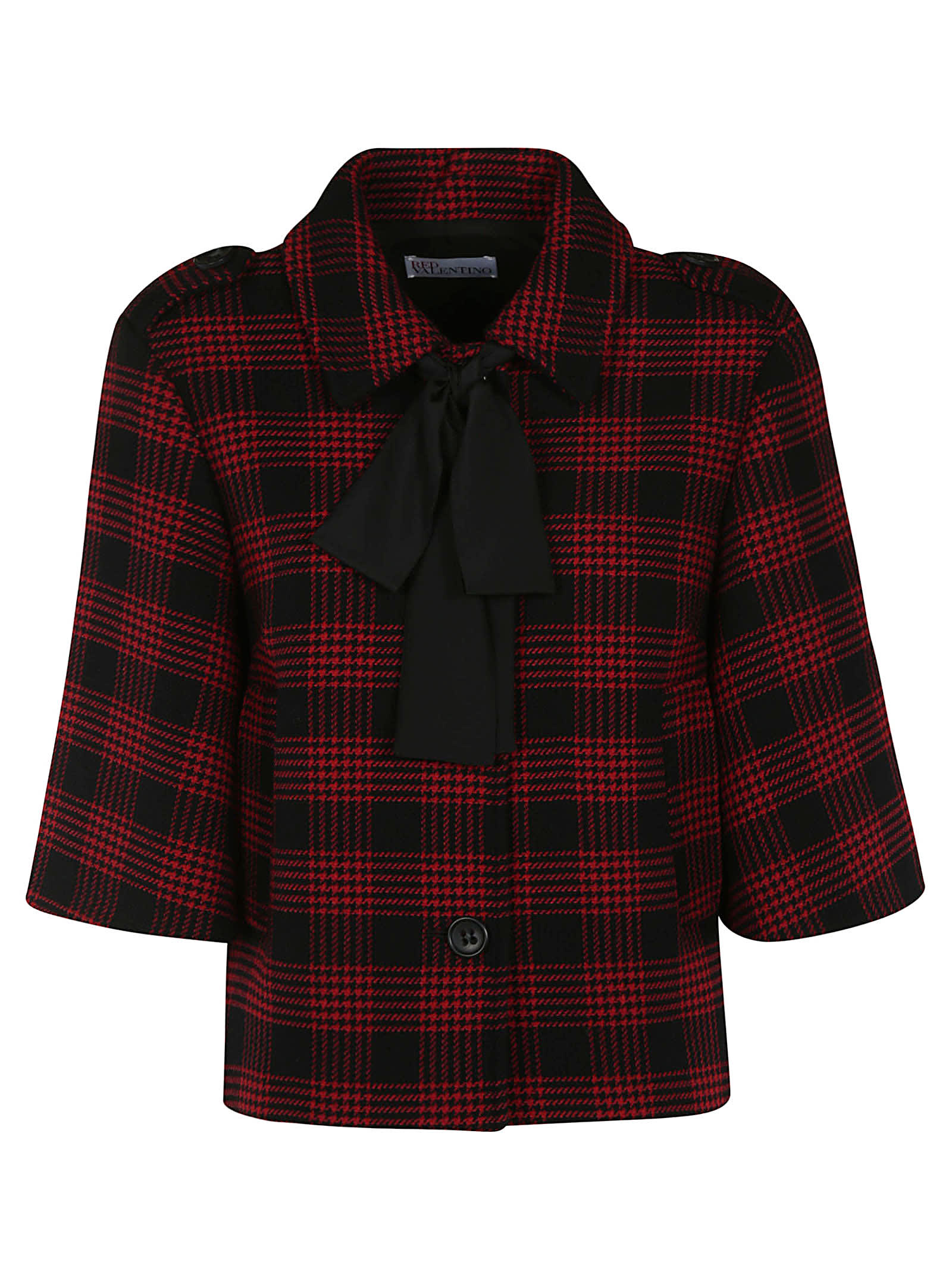 Photo of  RED Valentino Checked Jacket- shop RED Valentino jackets online sales