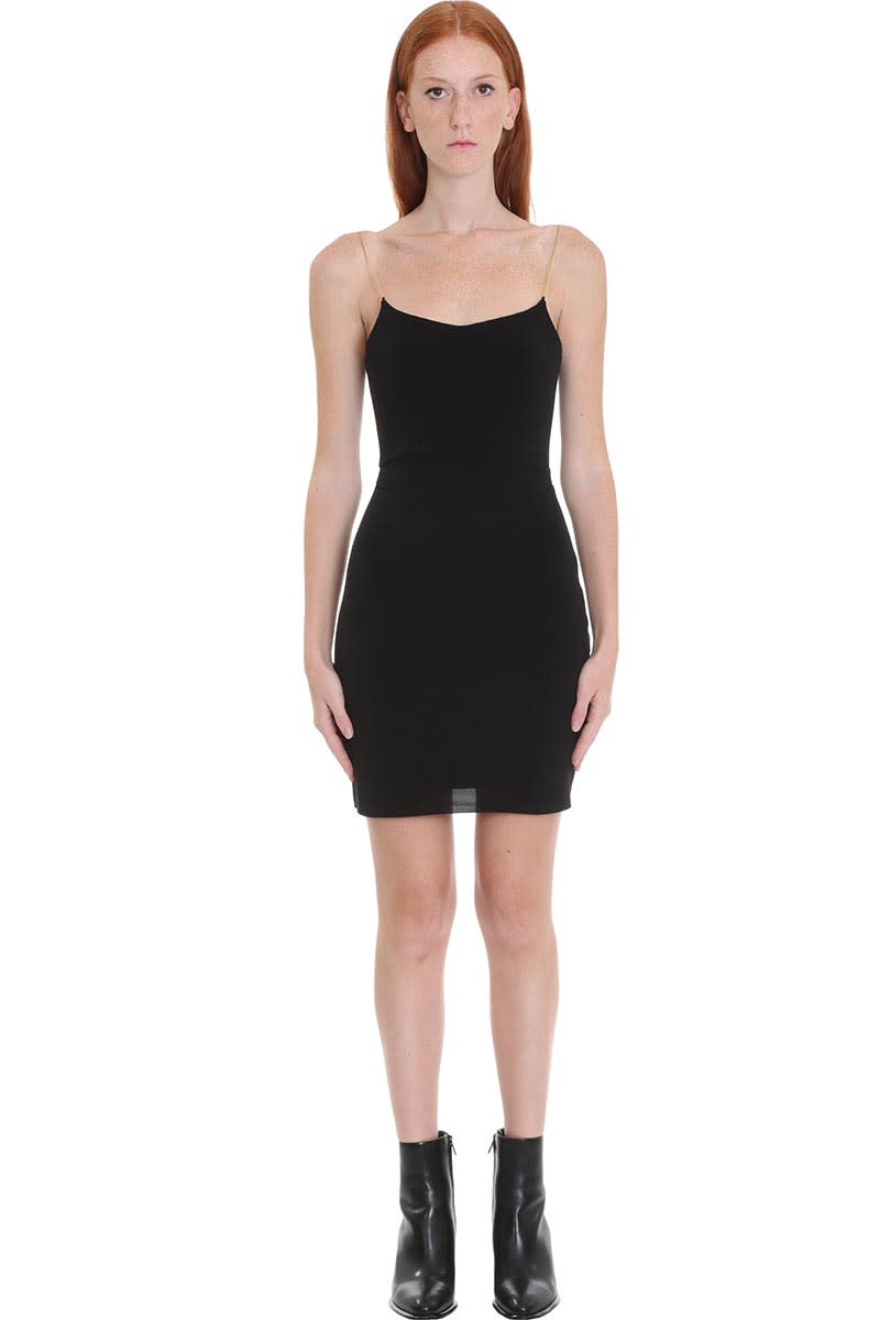 Buy Alexander Wang Dress In Black Polyamide online, shop Alexander Wang with free shipping