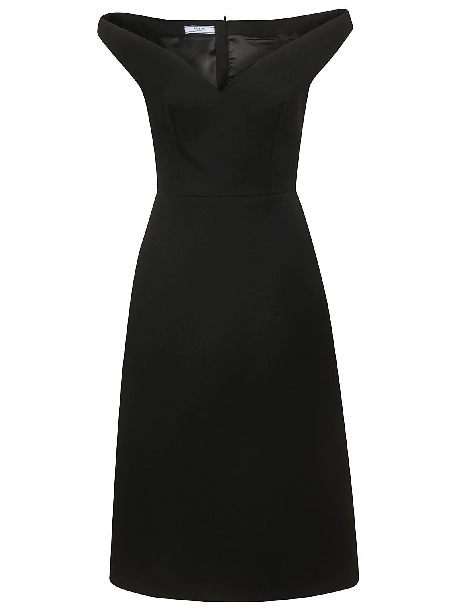 Buy Prada Off-shoulder Dress online, shop Prada with free shipping