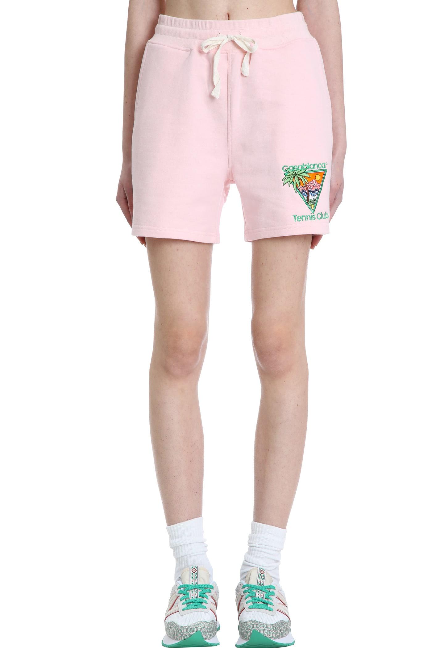 Casablanca Shorts SHORTS IN ROSE-PINK COTTON