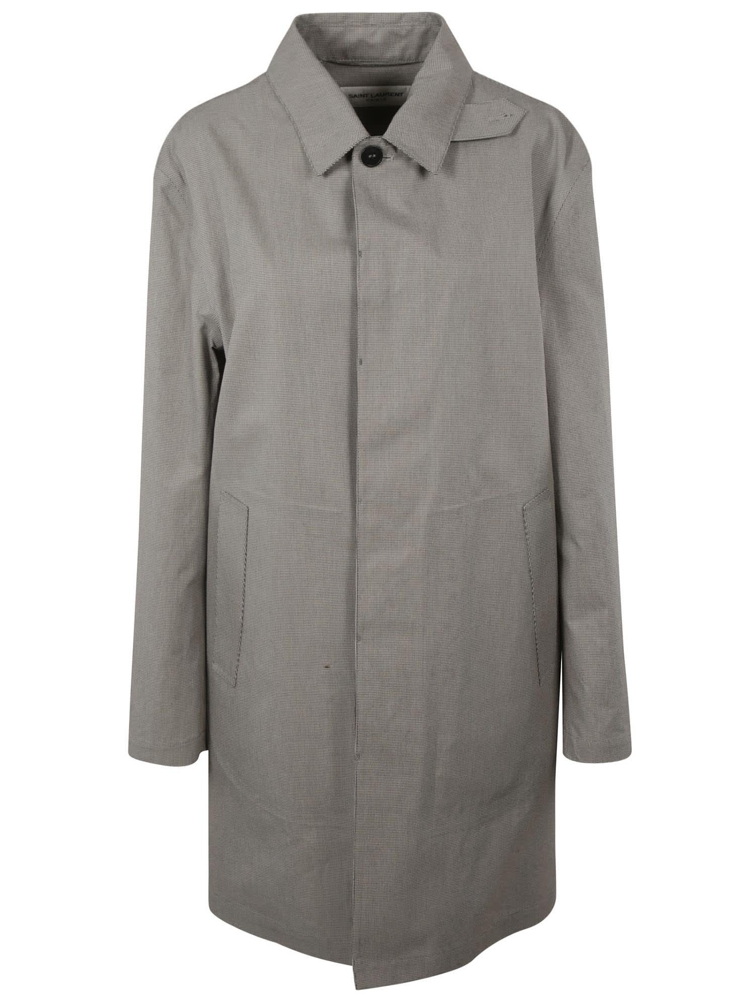 Saint Laurent Houndstooth Raincoat