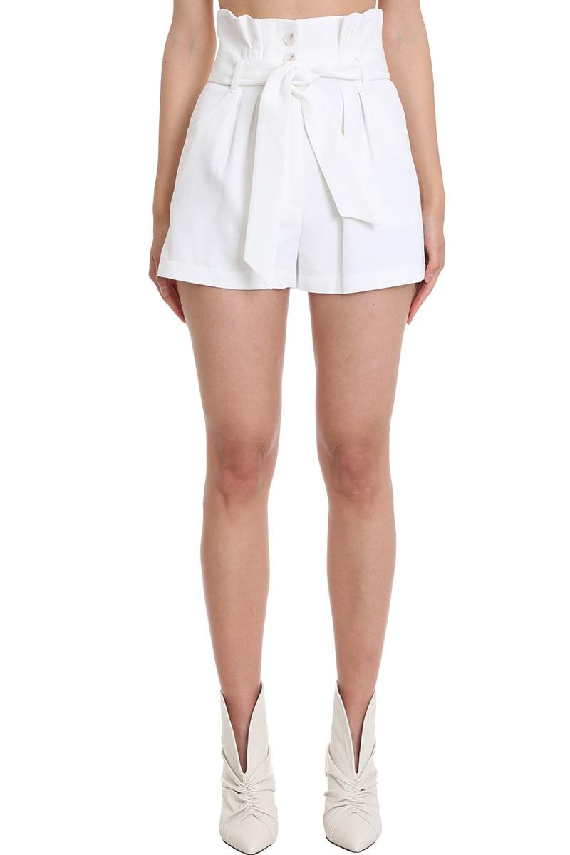 IRO Epinac Shorts In White Viscose