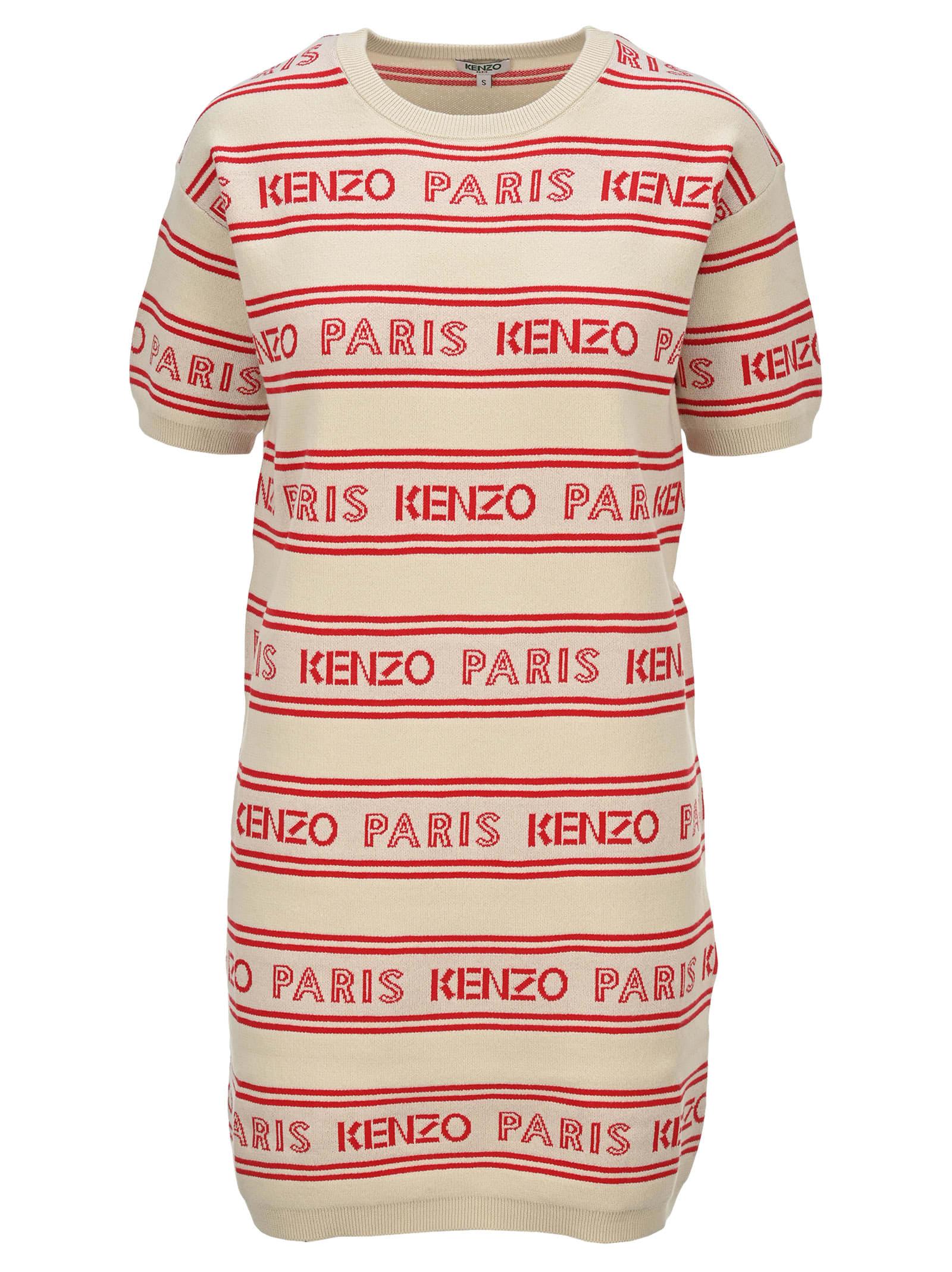 Buy Kenzo Kenzo Paris Knit Dress online, shop Kenzo with free shipping