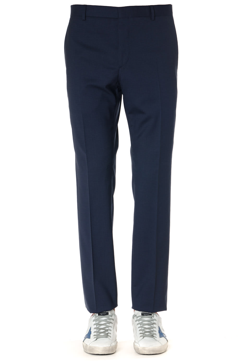 Calvin Klein Navy Virgin Wool Trousers