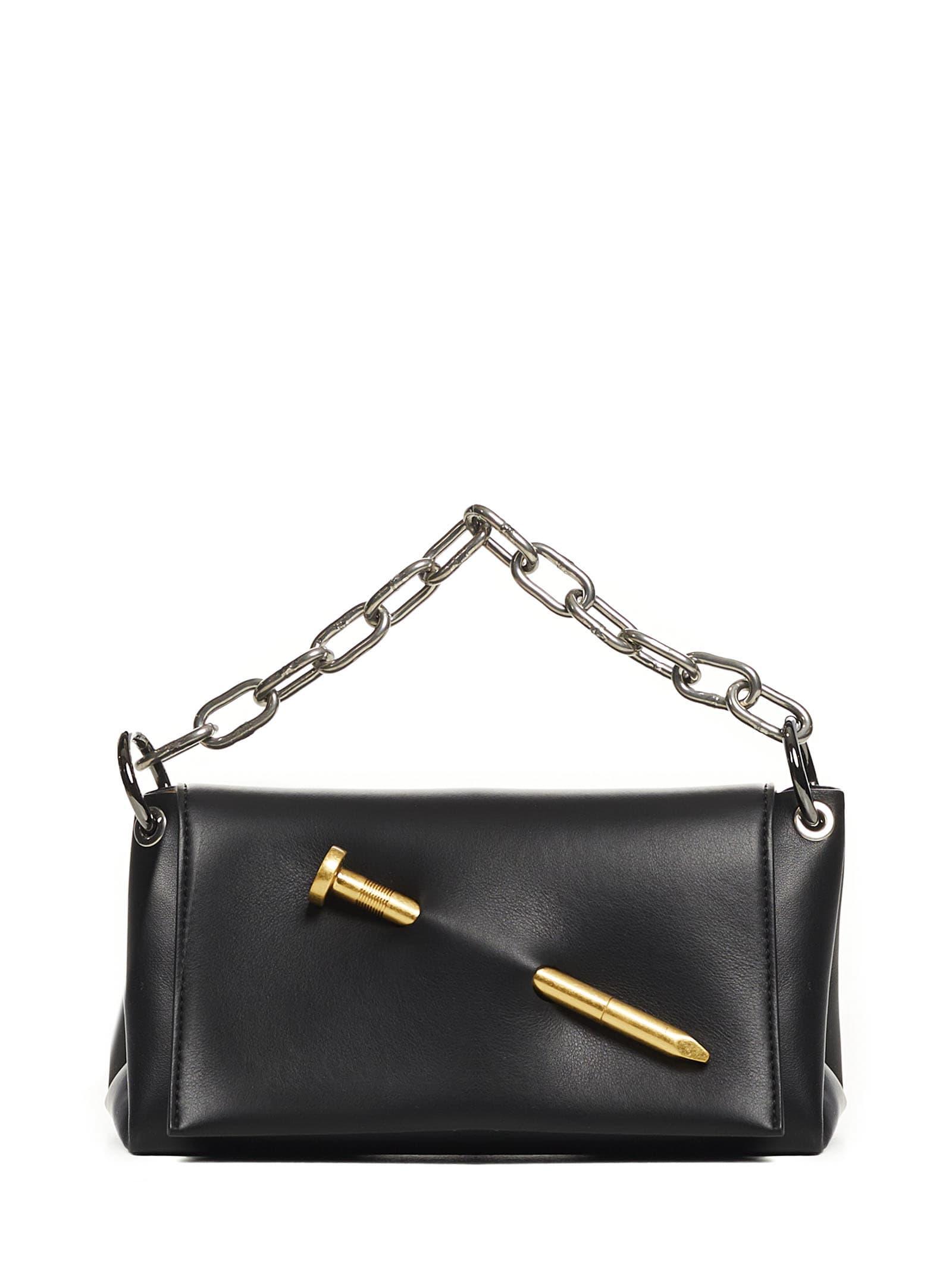 Off-white Nail Shoulder Bag In Black