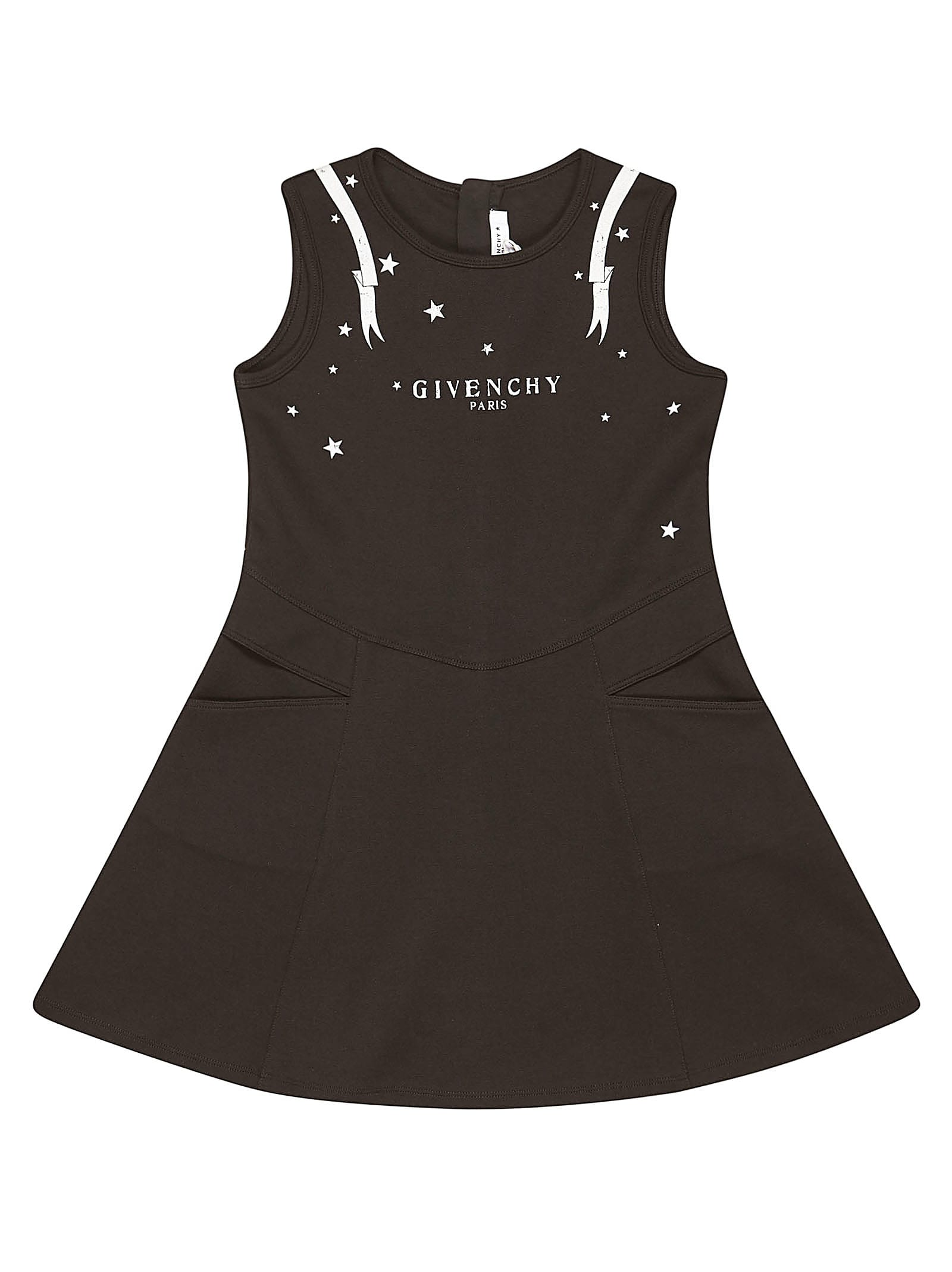 Givenchy Logo Print Sleeveless Dress