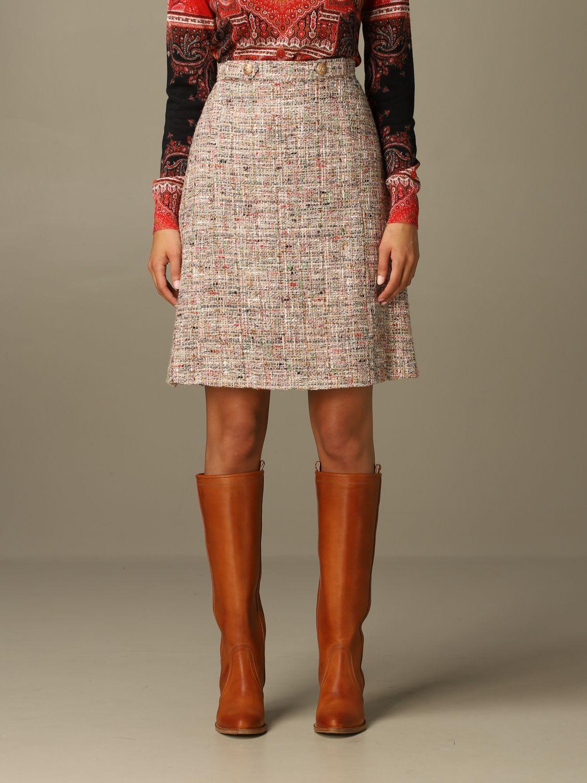 Etro Skirt Etro Skirt In Bouclé Cotton Blend
