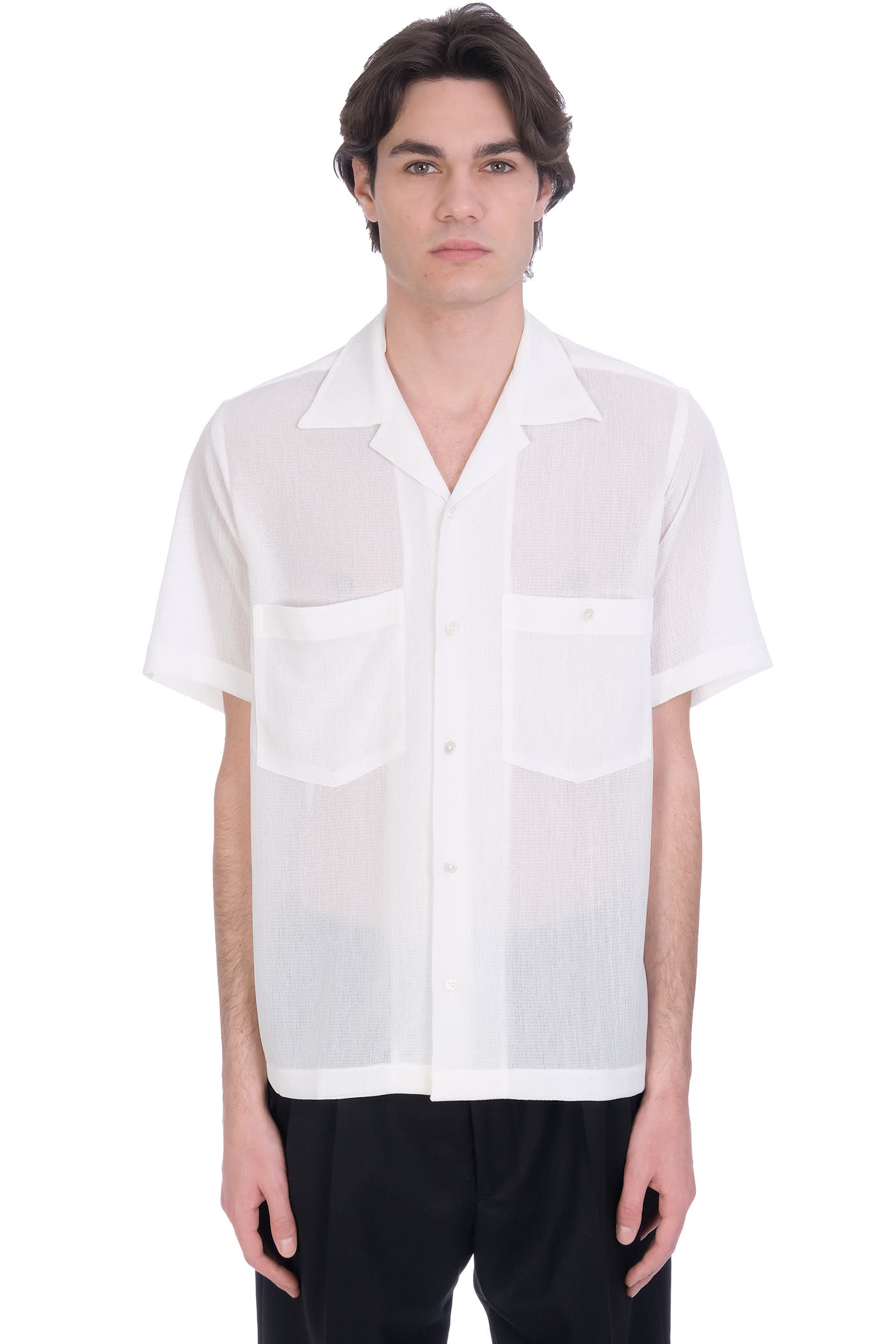 Shirt In White Polyester