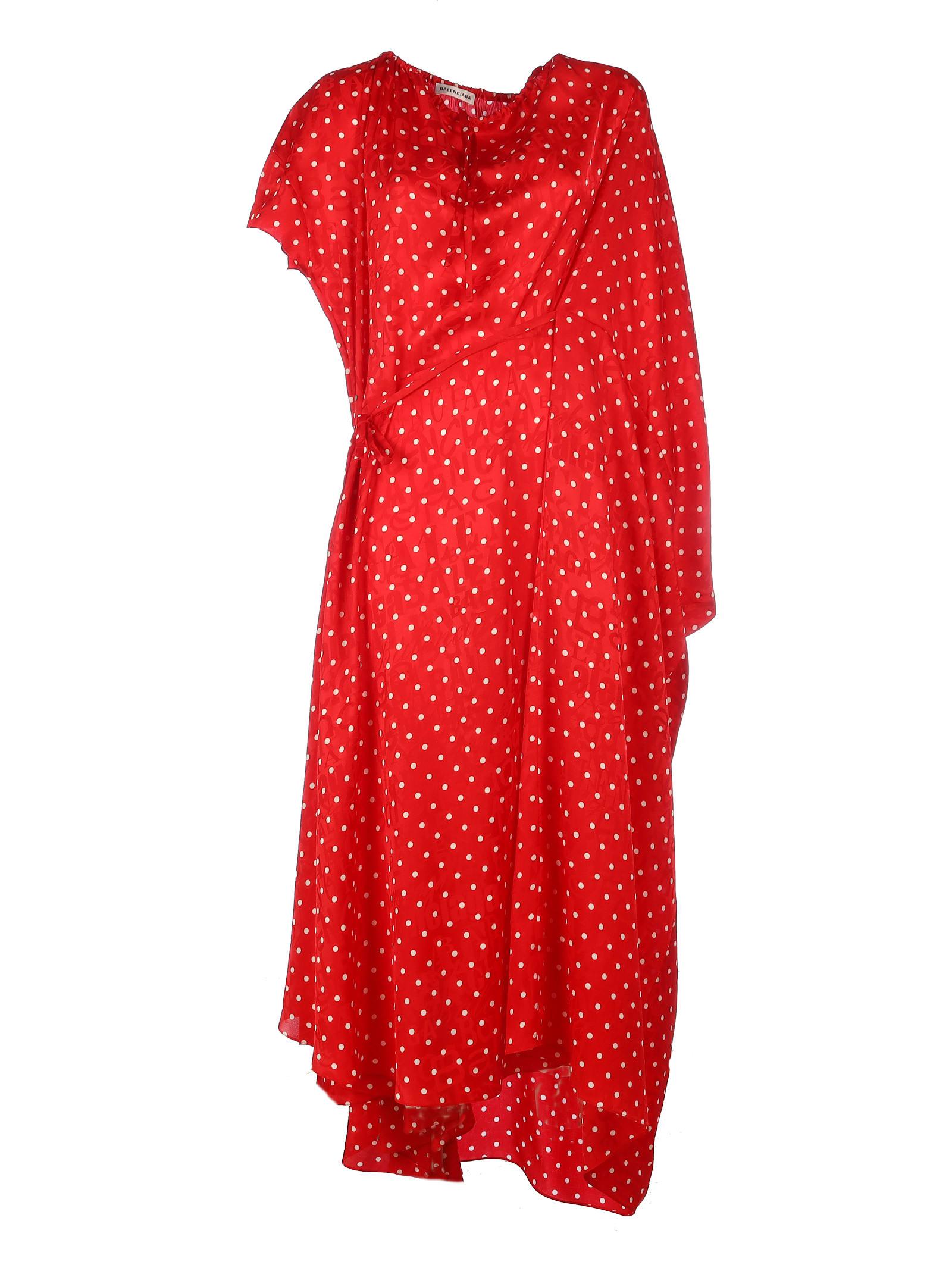 Balenciaga Silk Side Pull Dress