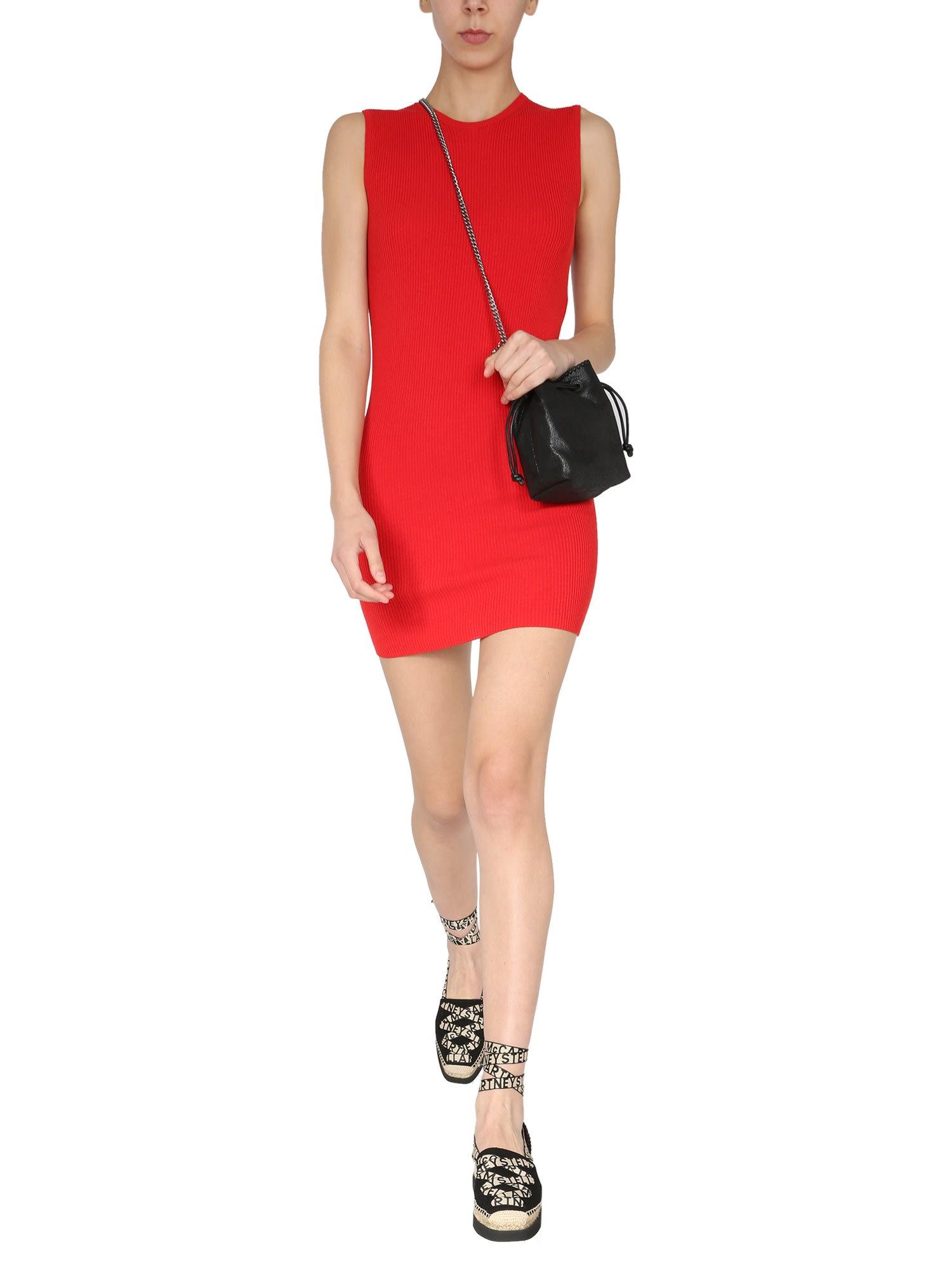 Stella Mccartney Mini dresses RIBBED KNIT DRESS