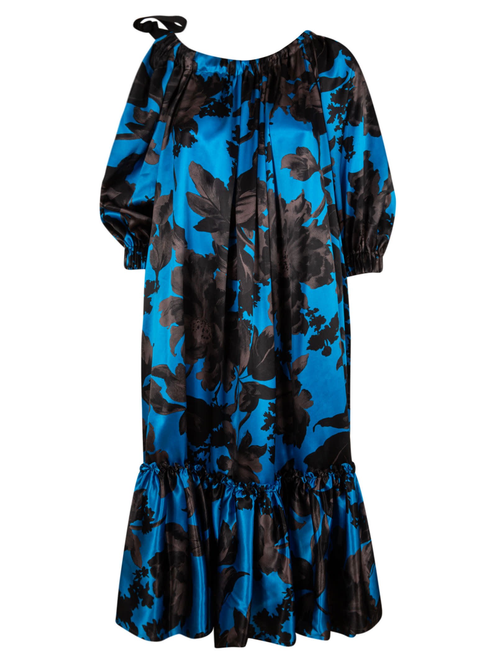 Buy Dries Van Noten Floral Print Maxi Dress online, shop Dries Van Noten with free shipping