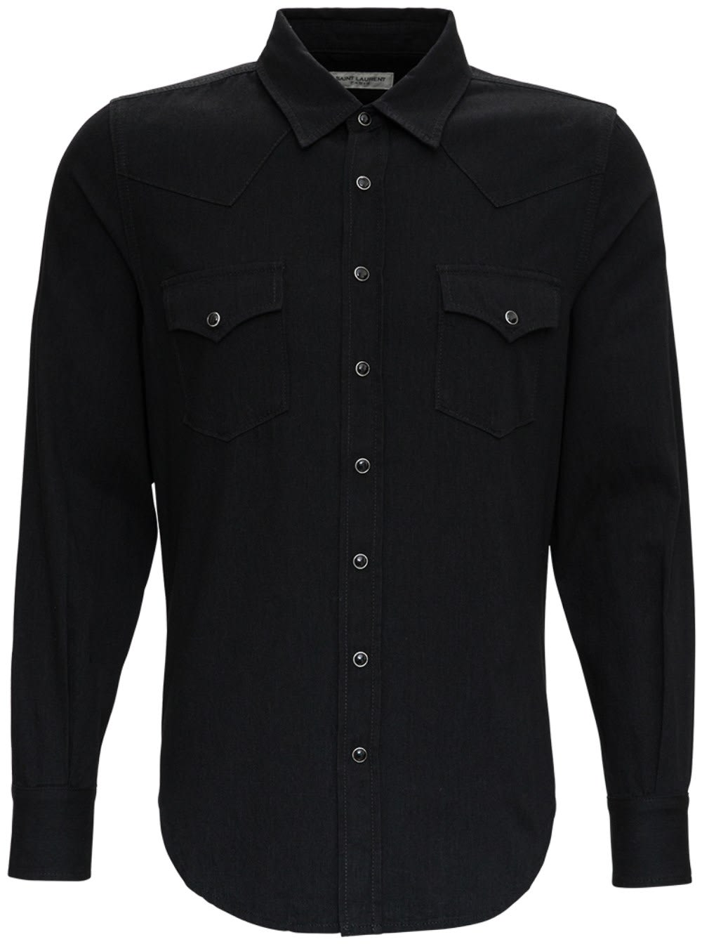 SAINT LAURENT Jeans BLACK WESTERN DENIM SHIRT