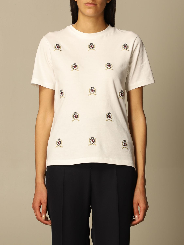 Hilfiger Collection T-shirt Hilfiger Collection Cotton T-shirt With All-over Emblem